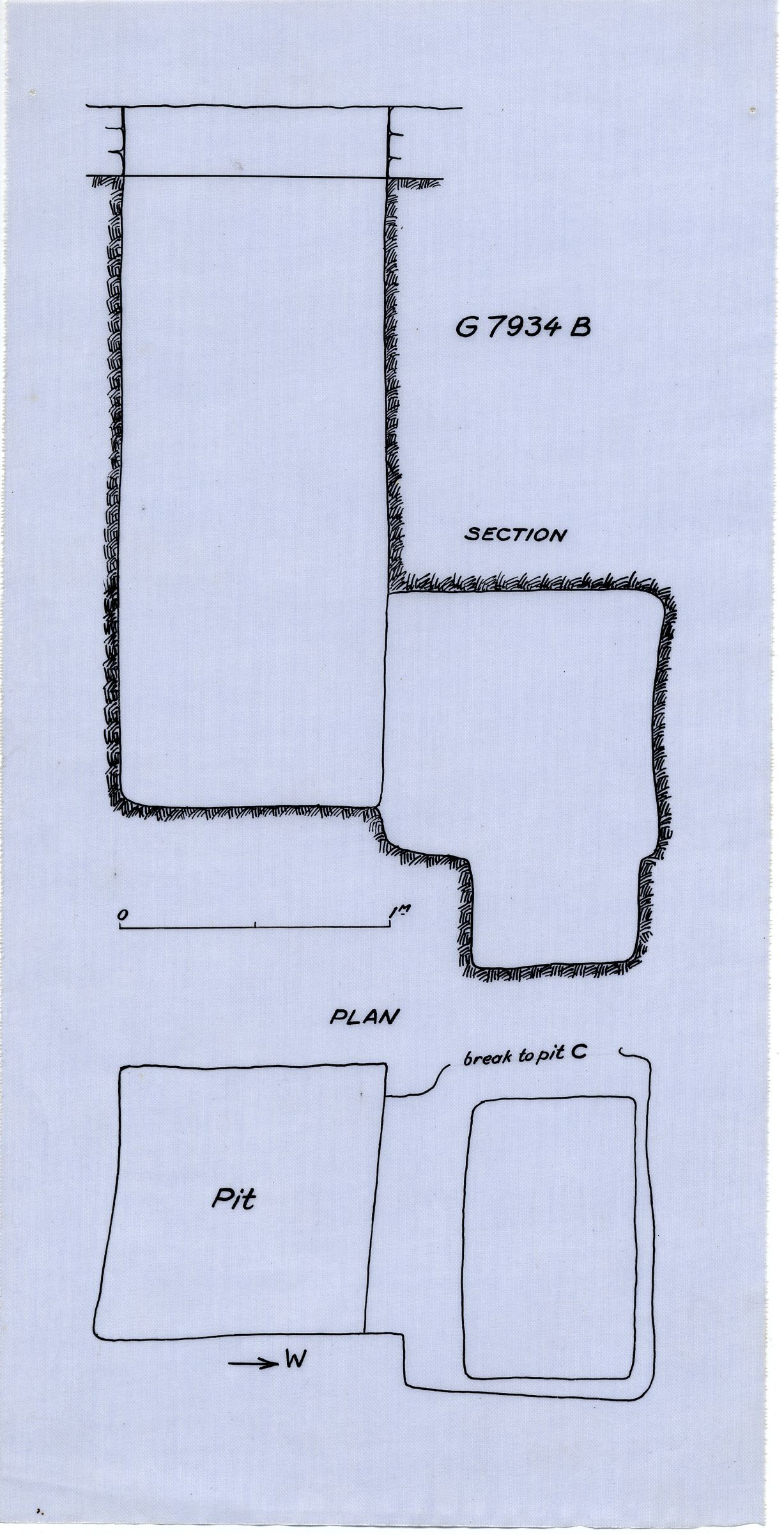 Maps and plans: G 7934, Shaft B