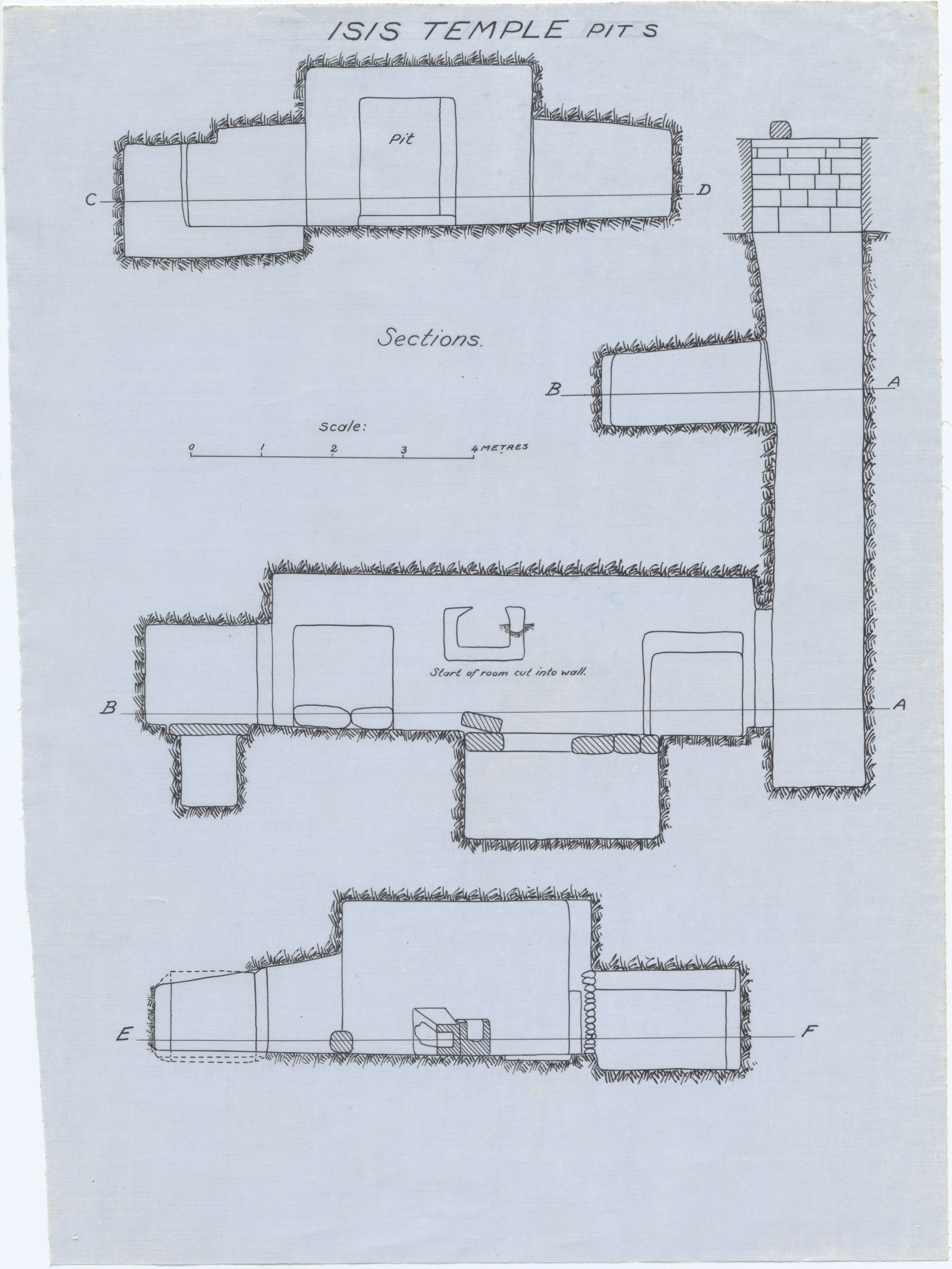 Maps and plans: Isis Temple, Pit S