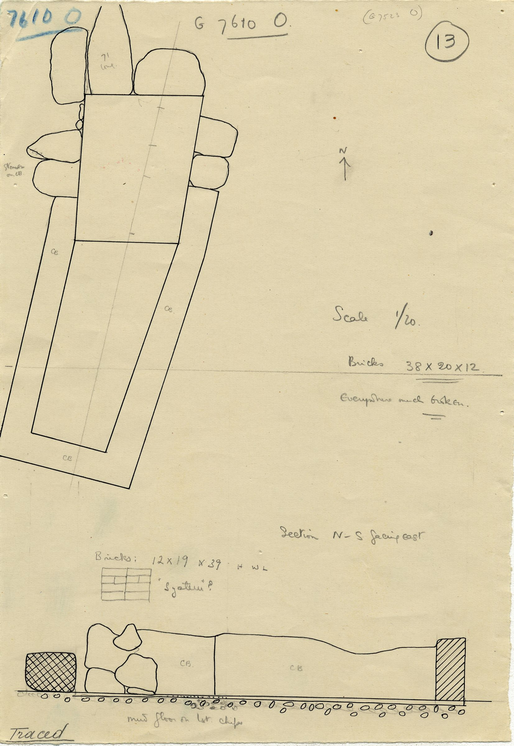 Maps and plans: G 7610+7620: G 7610, Shaft O
