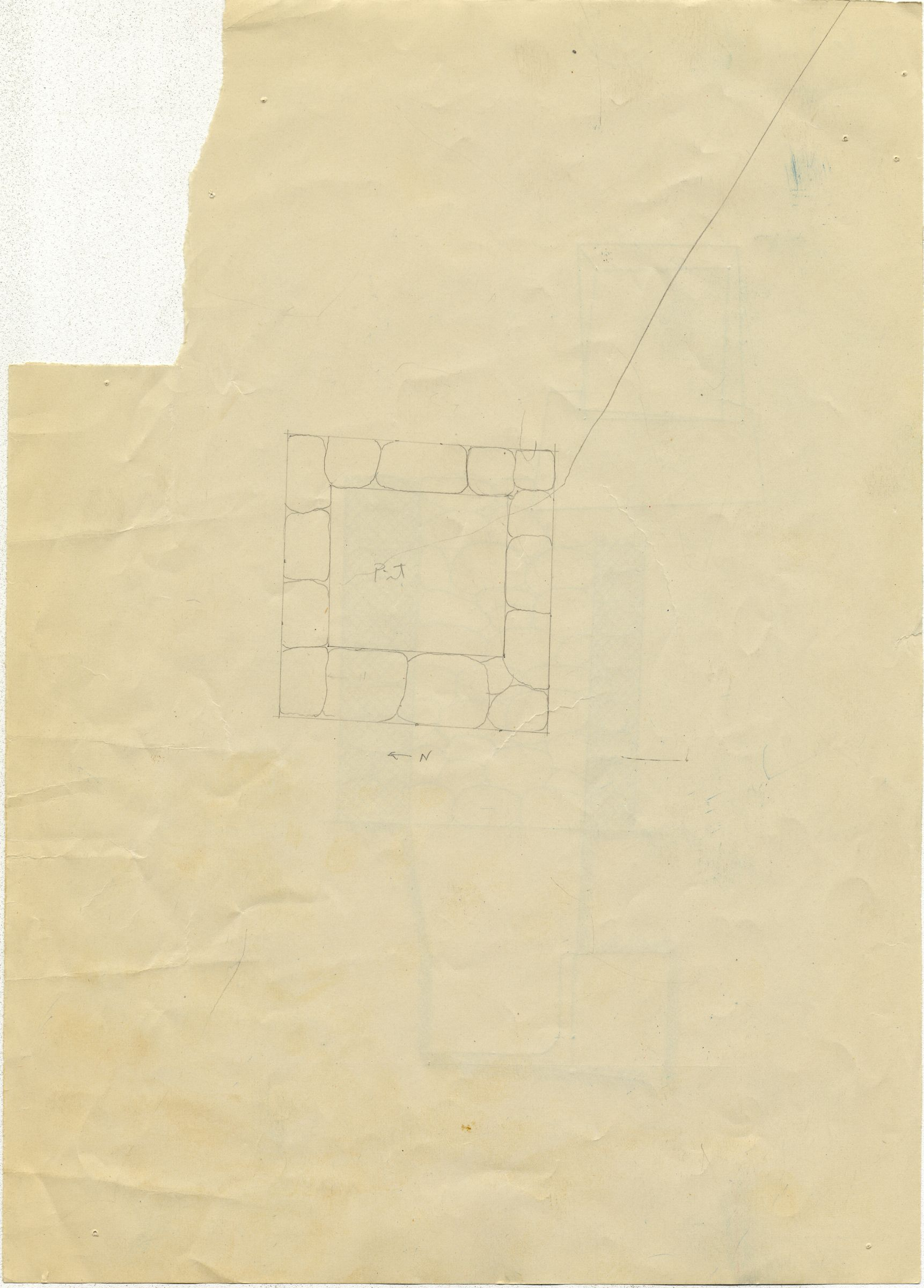 Maps and plans: G 7610+7620: G 7610, Shaft Y (?)