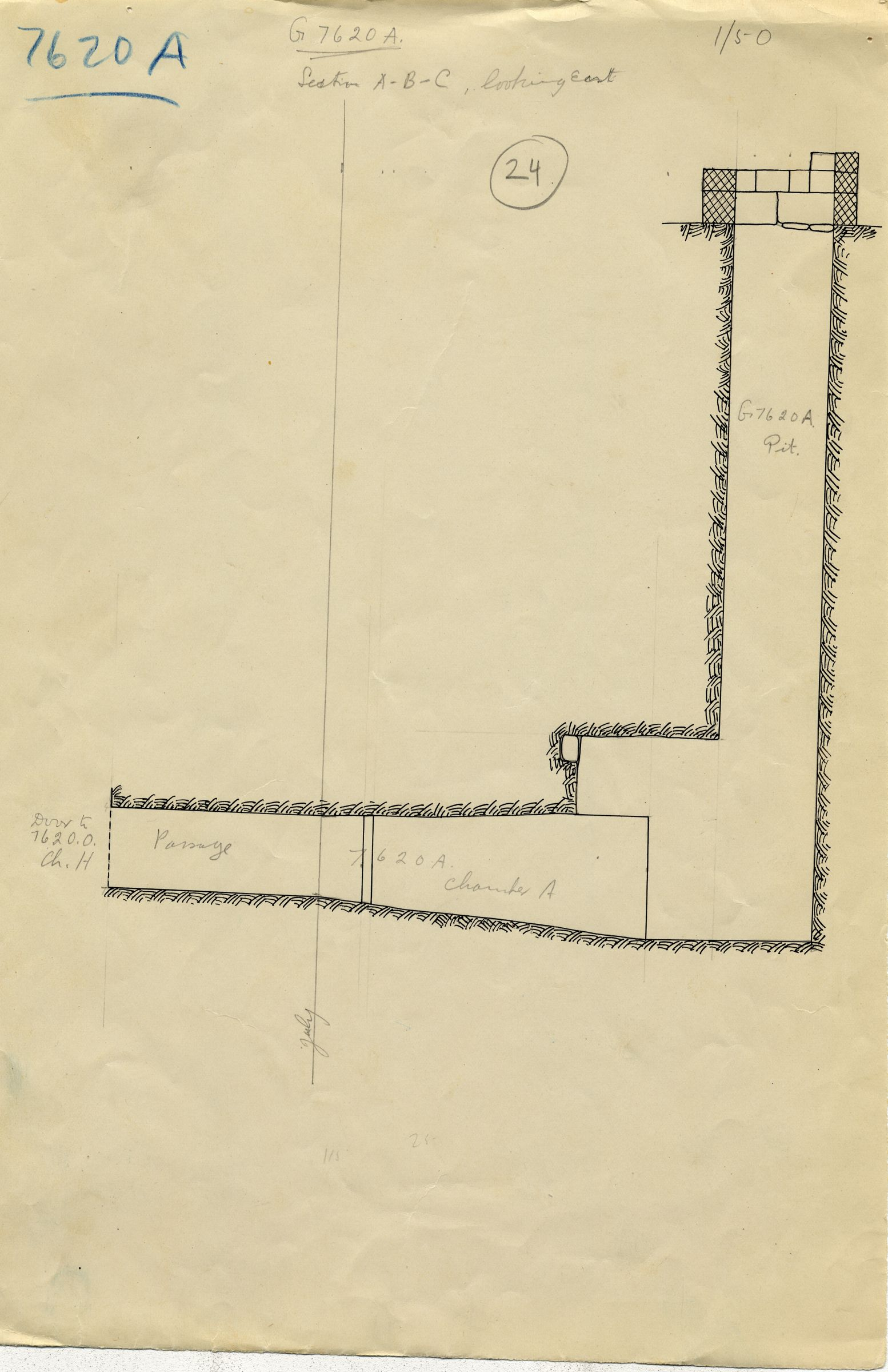 Maps and plans: G 7610+7620: G 7620, Shaft A