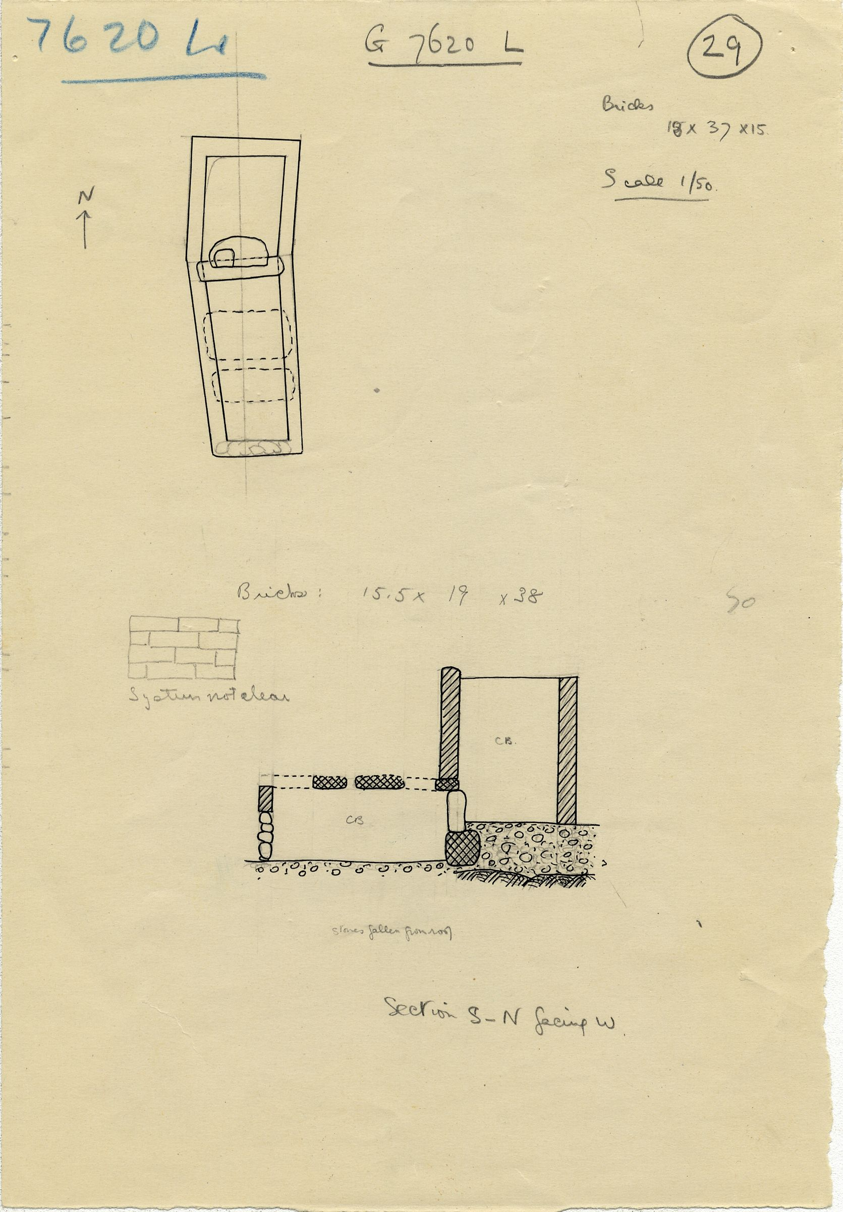 Maps and plans: G 7610+7620: G 7620, Shaft L