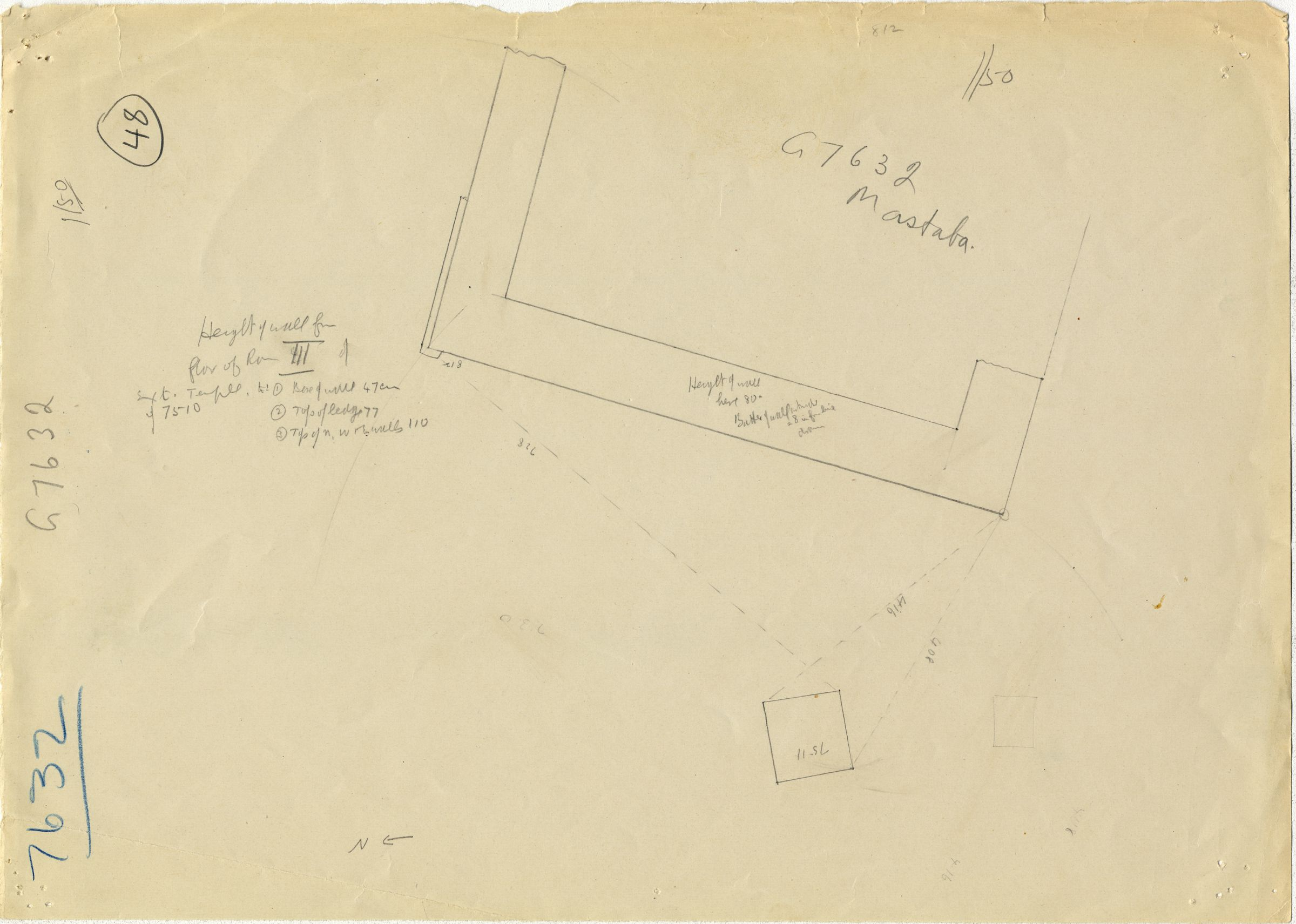 Maps and plans: G 7632, Partial plan