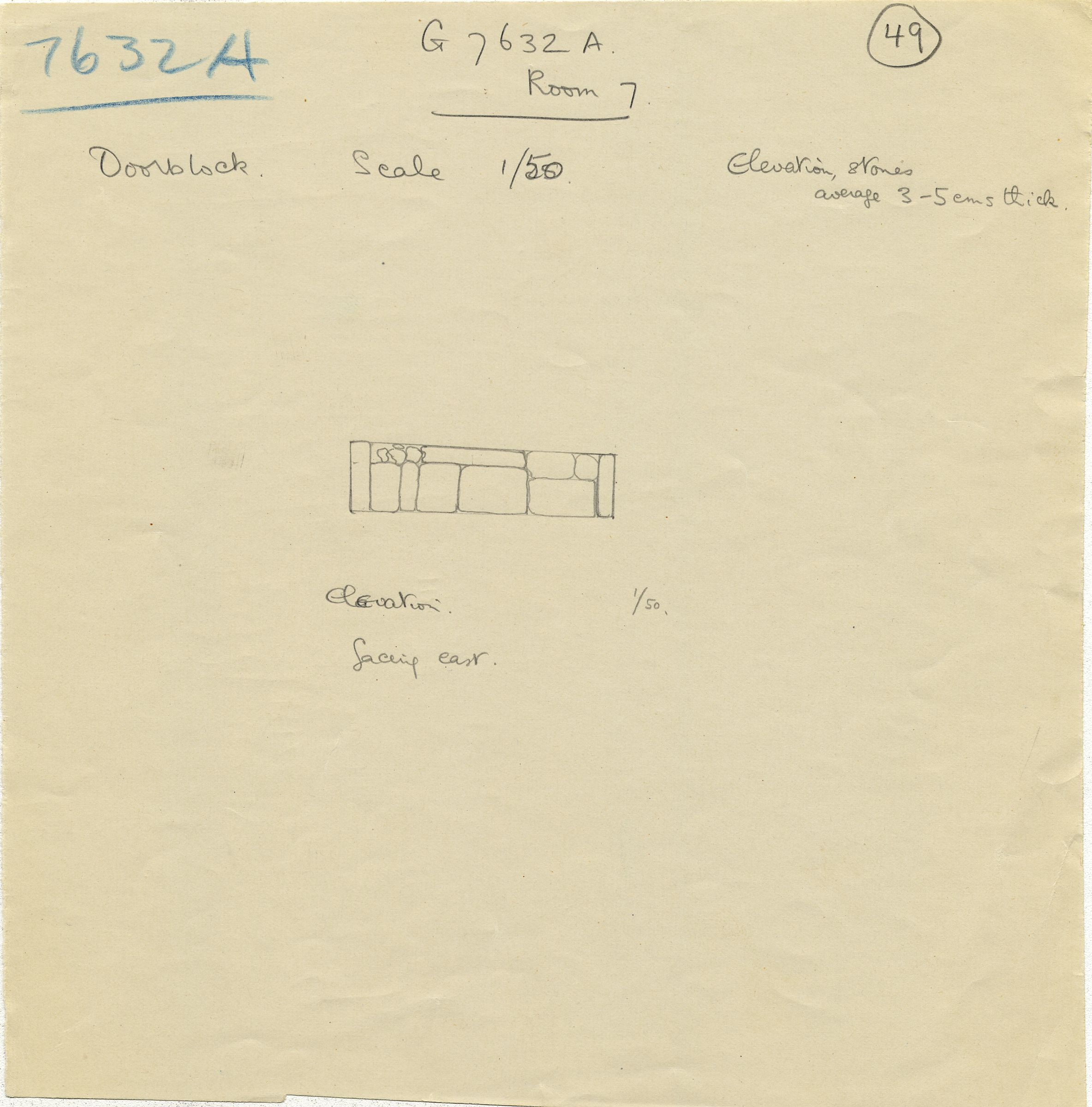 Maps and plans: G 7632, Shaft A