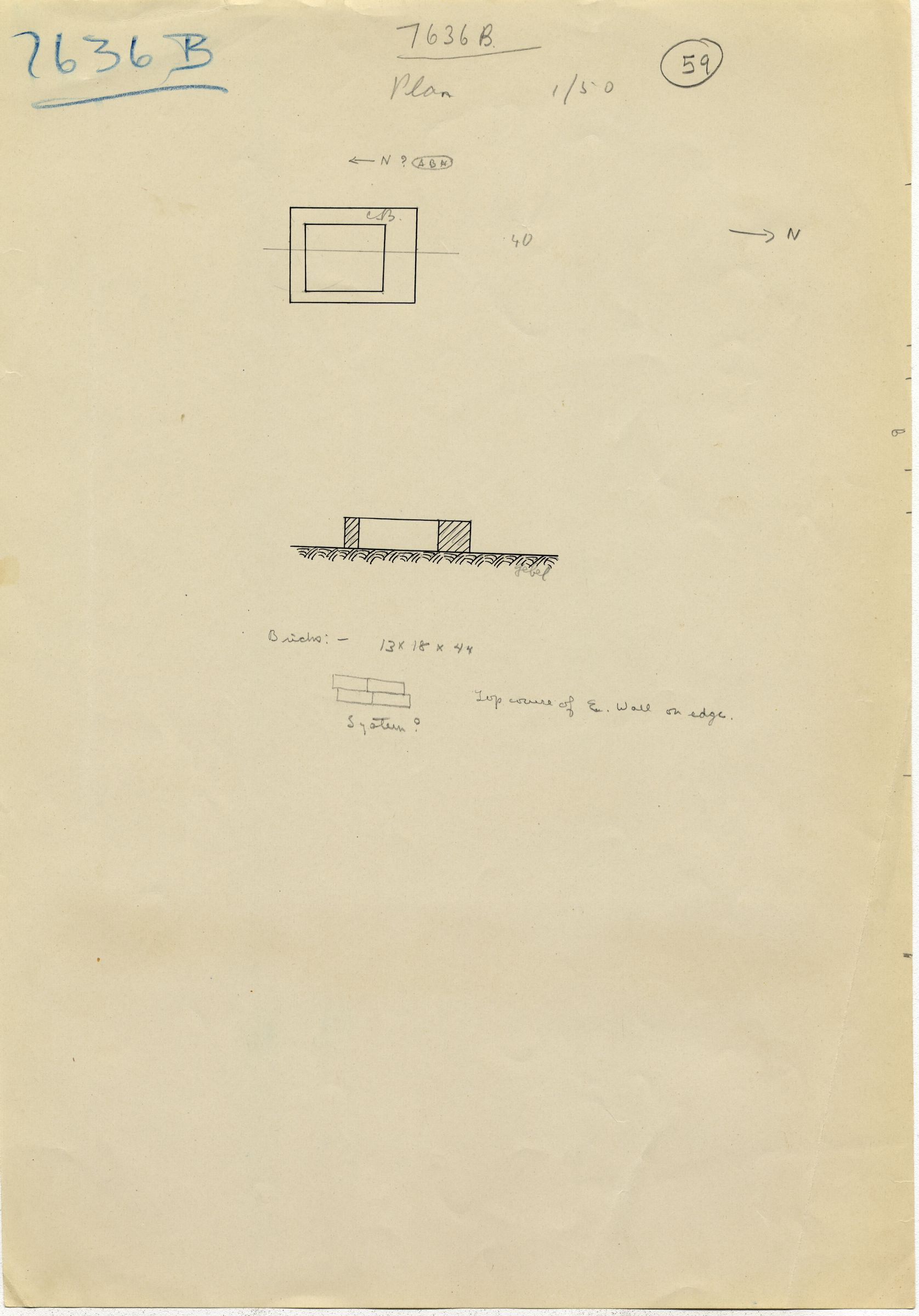Maps and plans: G 7636, Shaft B