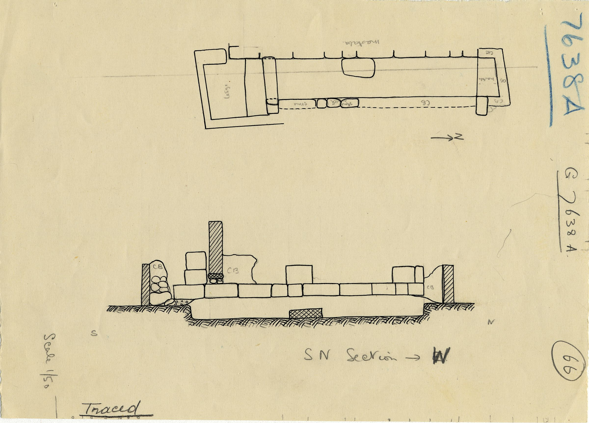Maps and plans: G 7638, Shaft A
