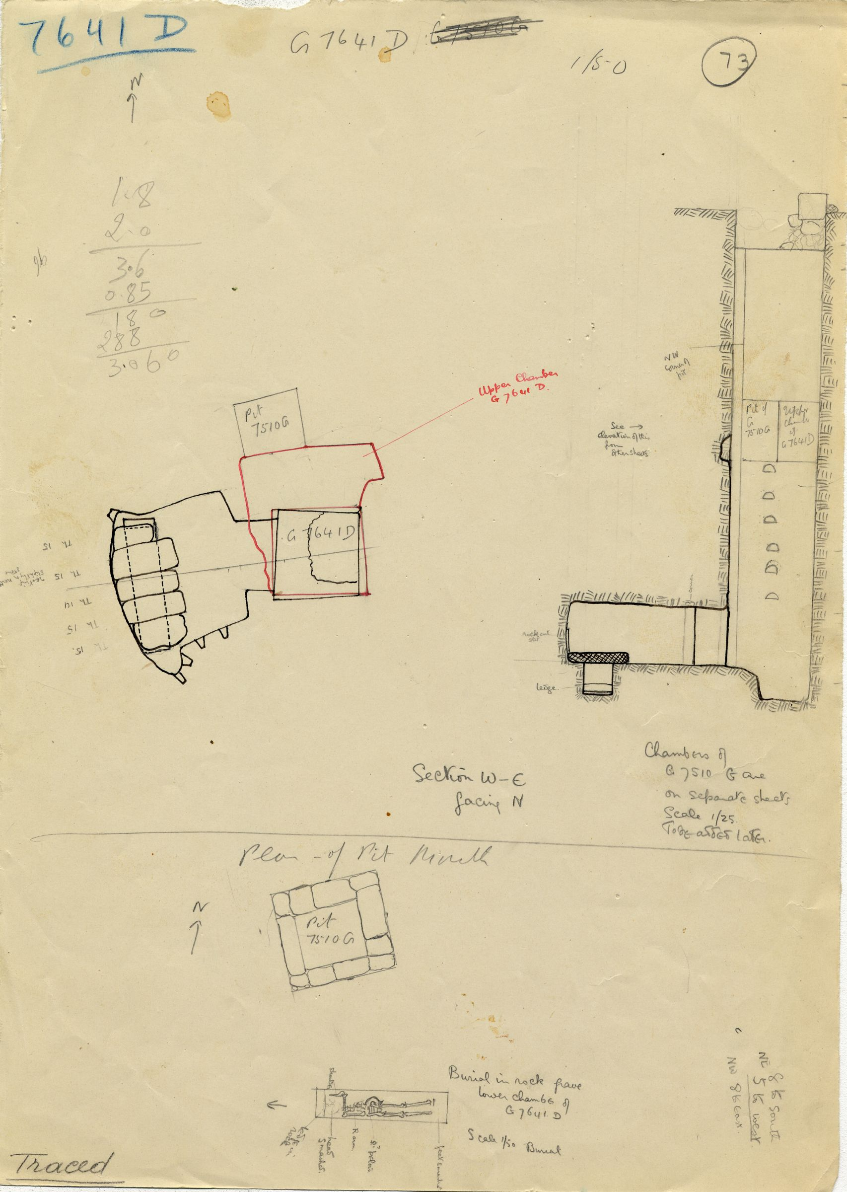 Maps and plans: G 7641, Shaft D