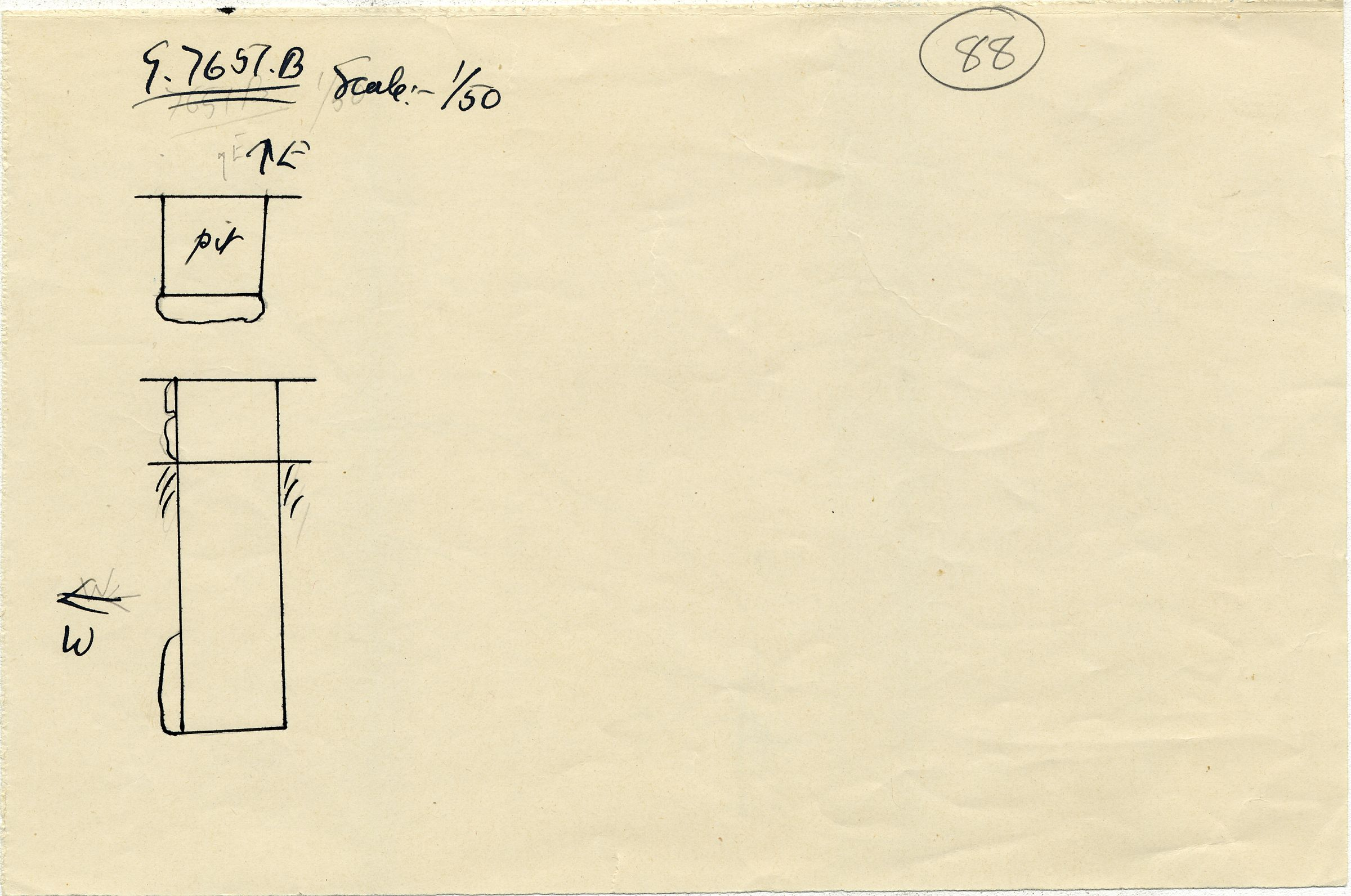 Maps and plans: G 7651, Shaft B