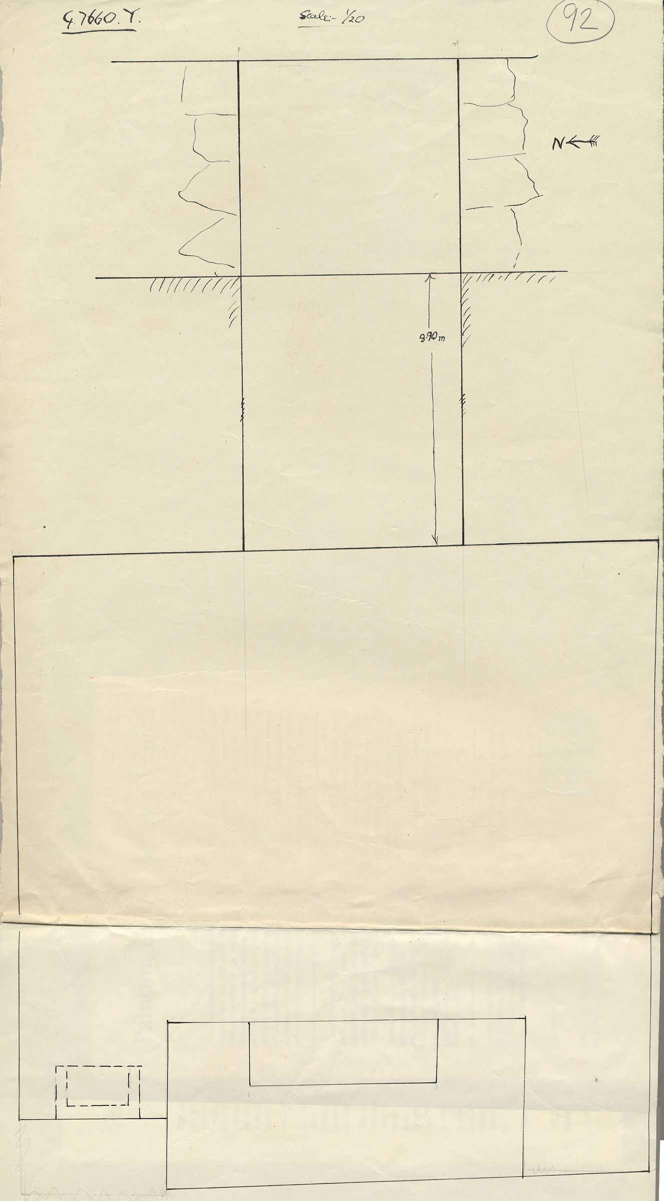 Maps and plans: G 7660, Shaft Y