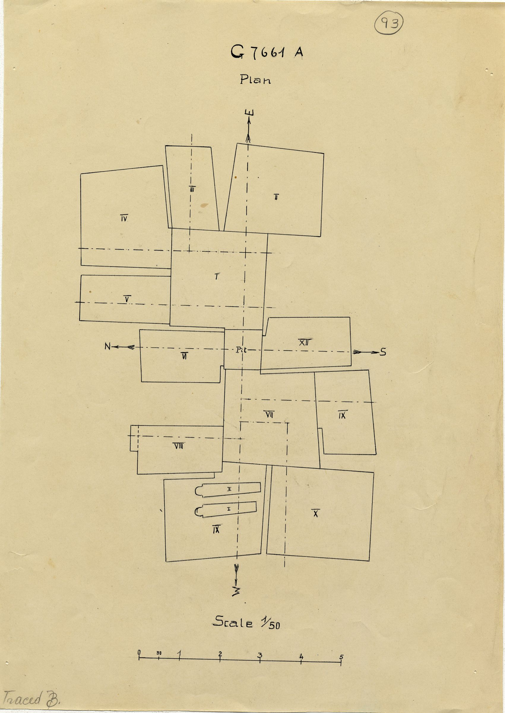 Maps and plans: G 7661, Shaft A