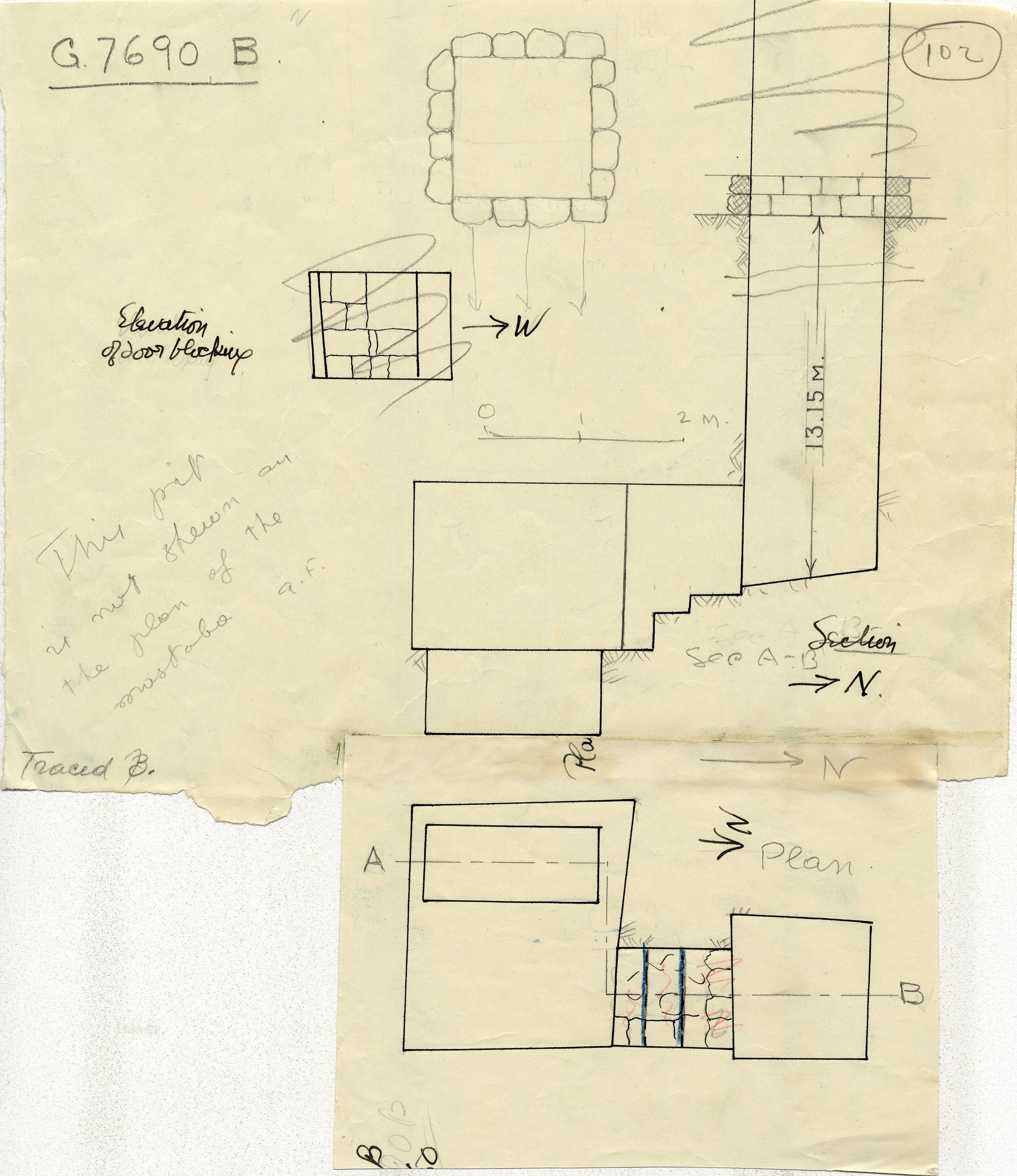 Maps and plans: G 7690, Shaft B