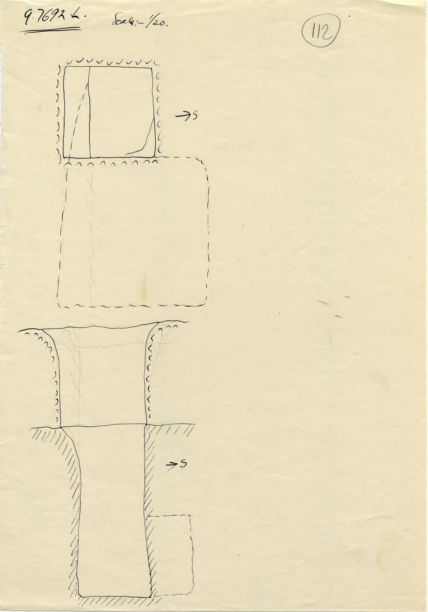 Maps and plans: G 7692a, Shaft L