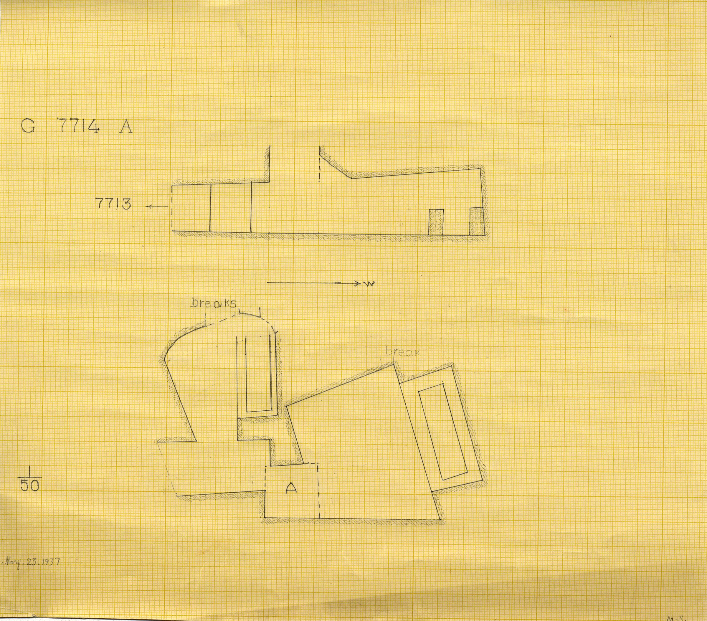Maps and plans: G 7714, Shaft A