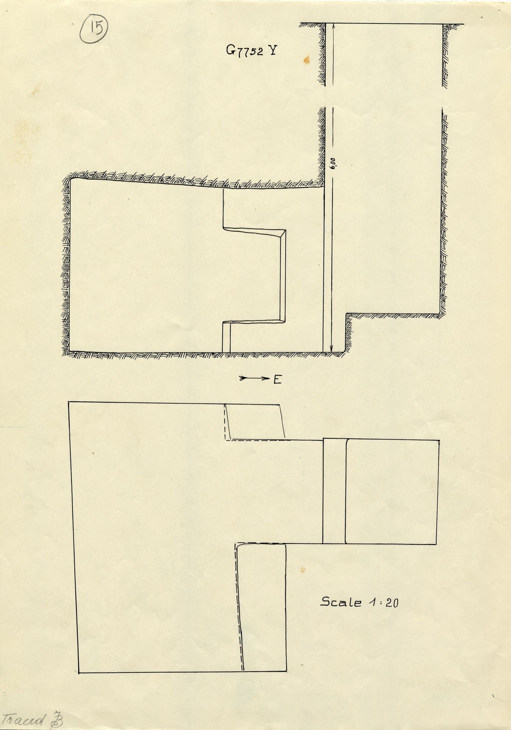 Maps and plans: G 7752, Shaft Y