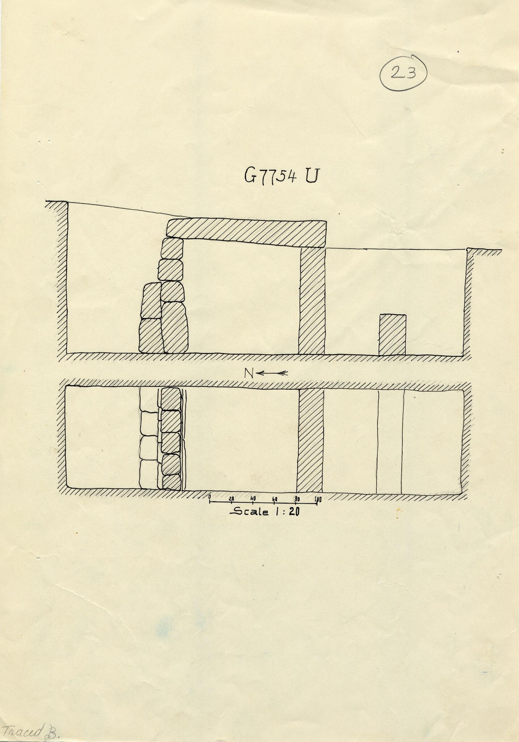Maps and plans: G 7754, Shaft U