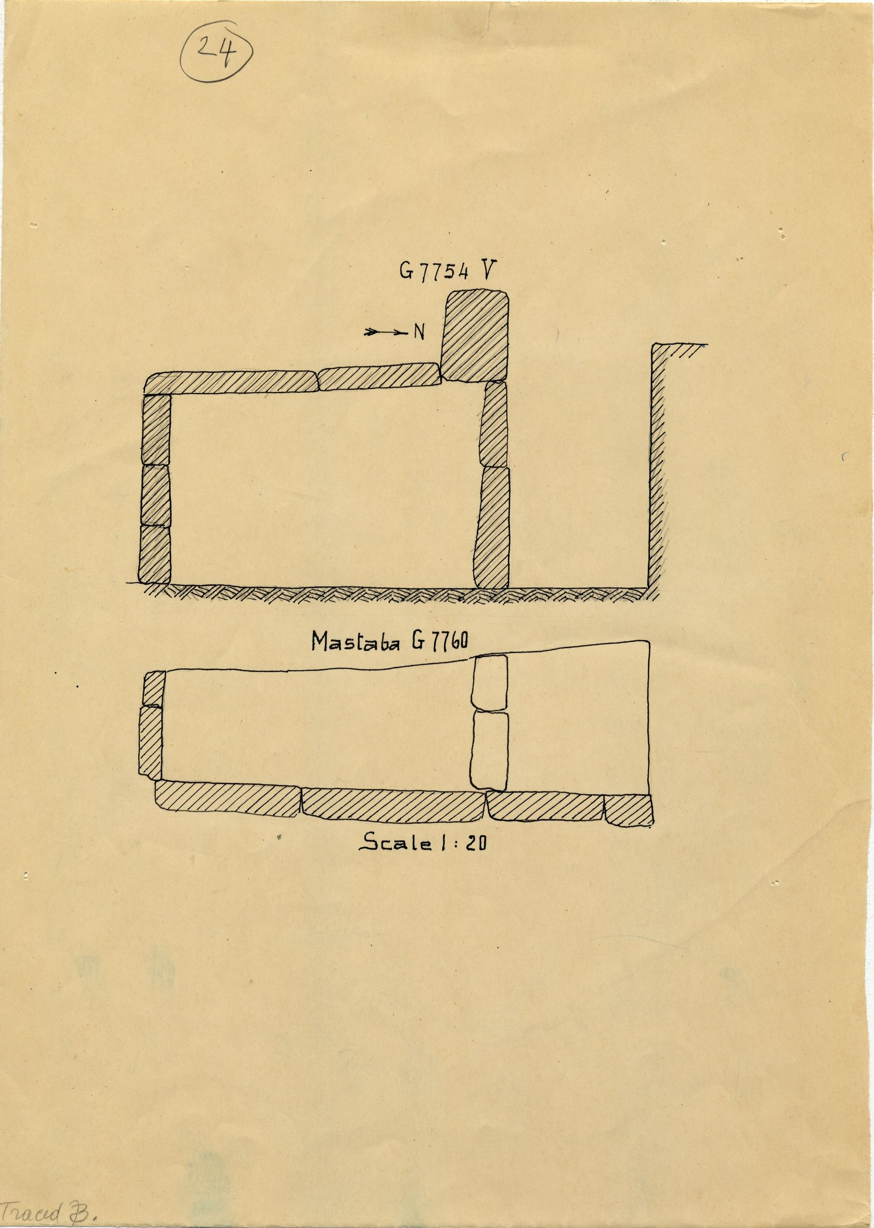 Maps and plans: G 7754, Shaft V