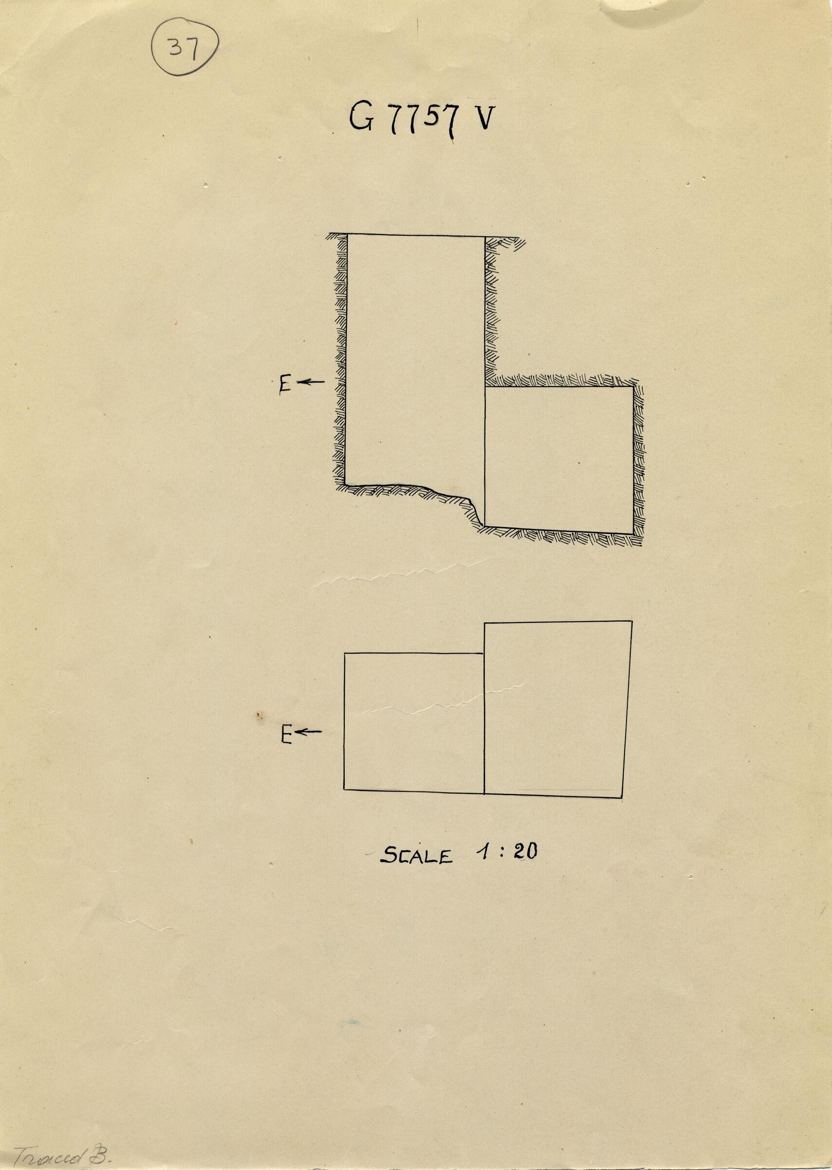 Maps and plans: G 7757, Shaft V