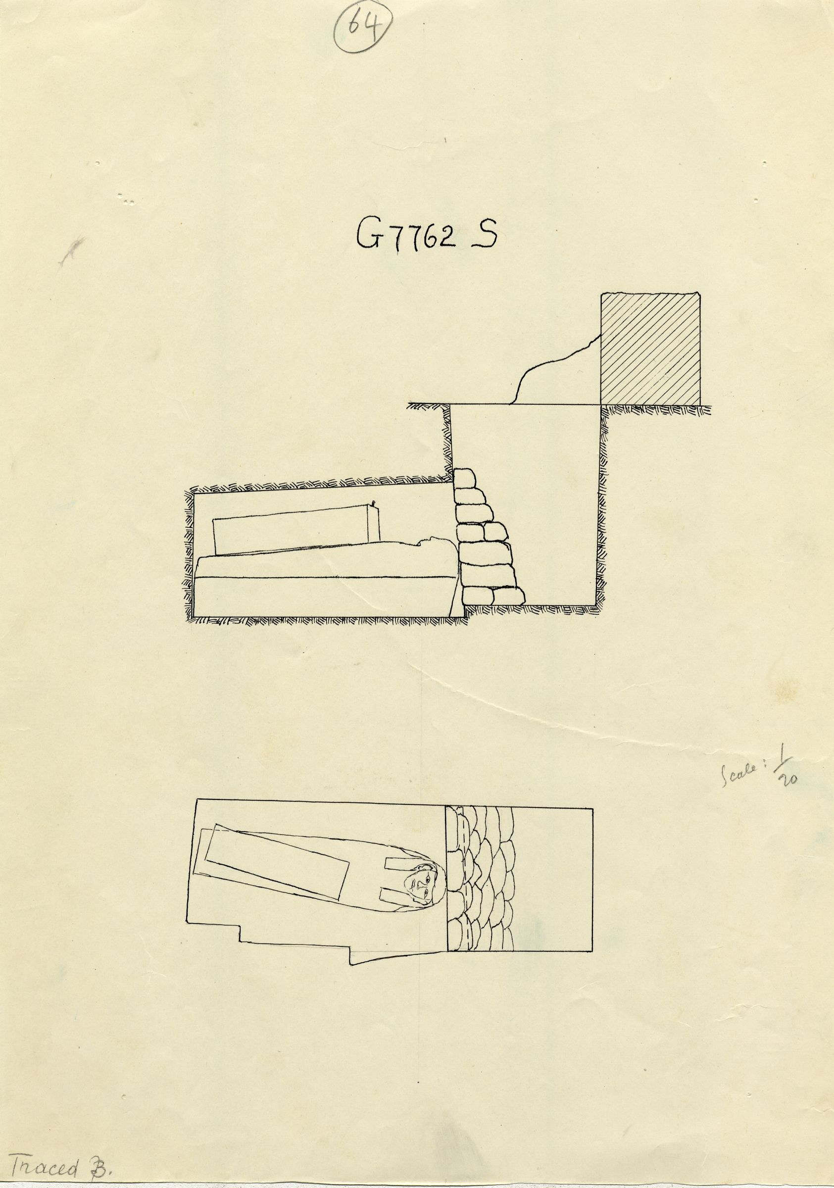 Maps and plans: G 7762, Shaft S