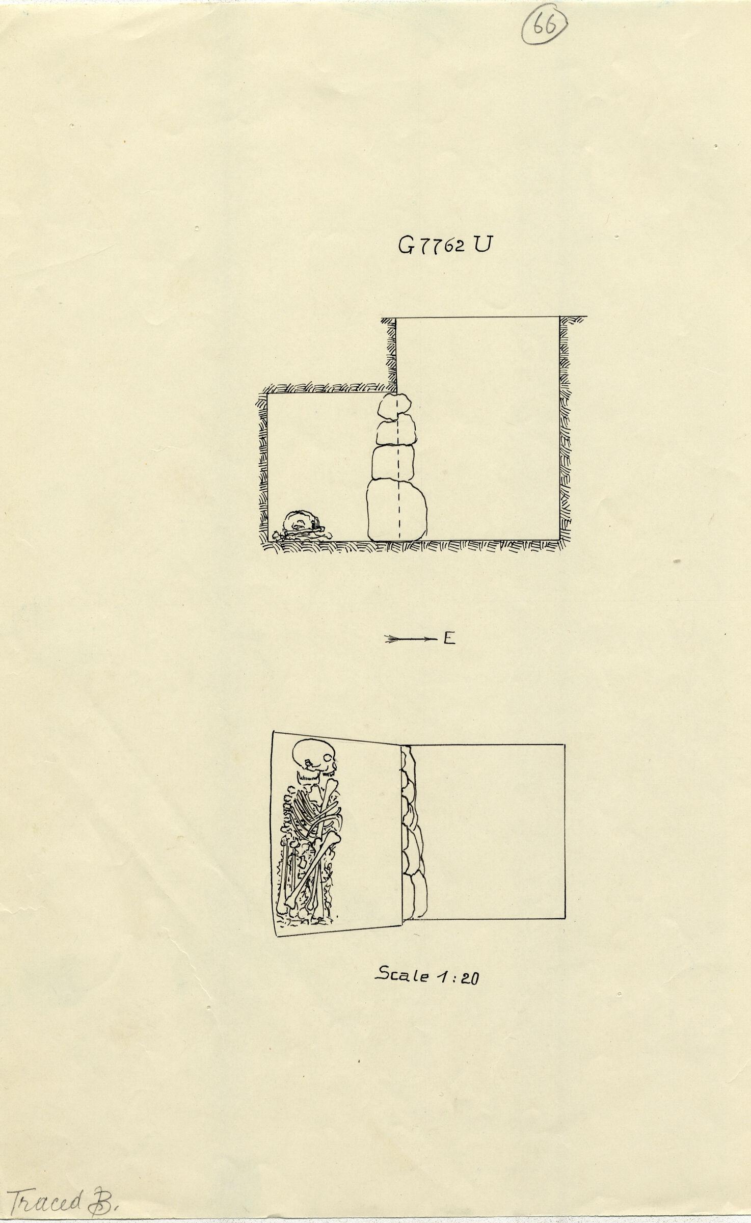 Maps and plans: G 7762, Shaft U