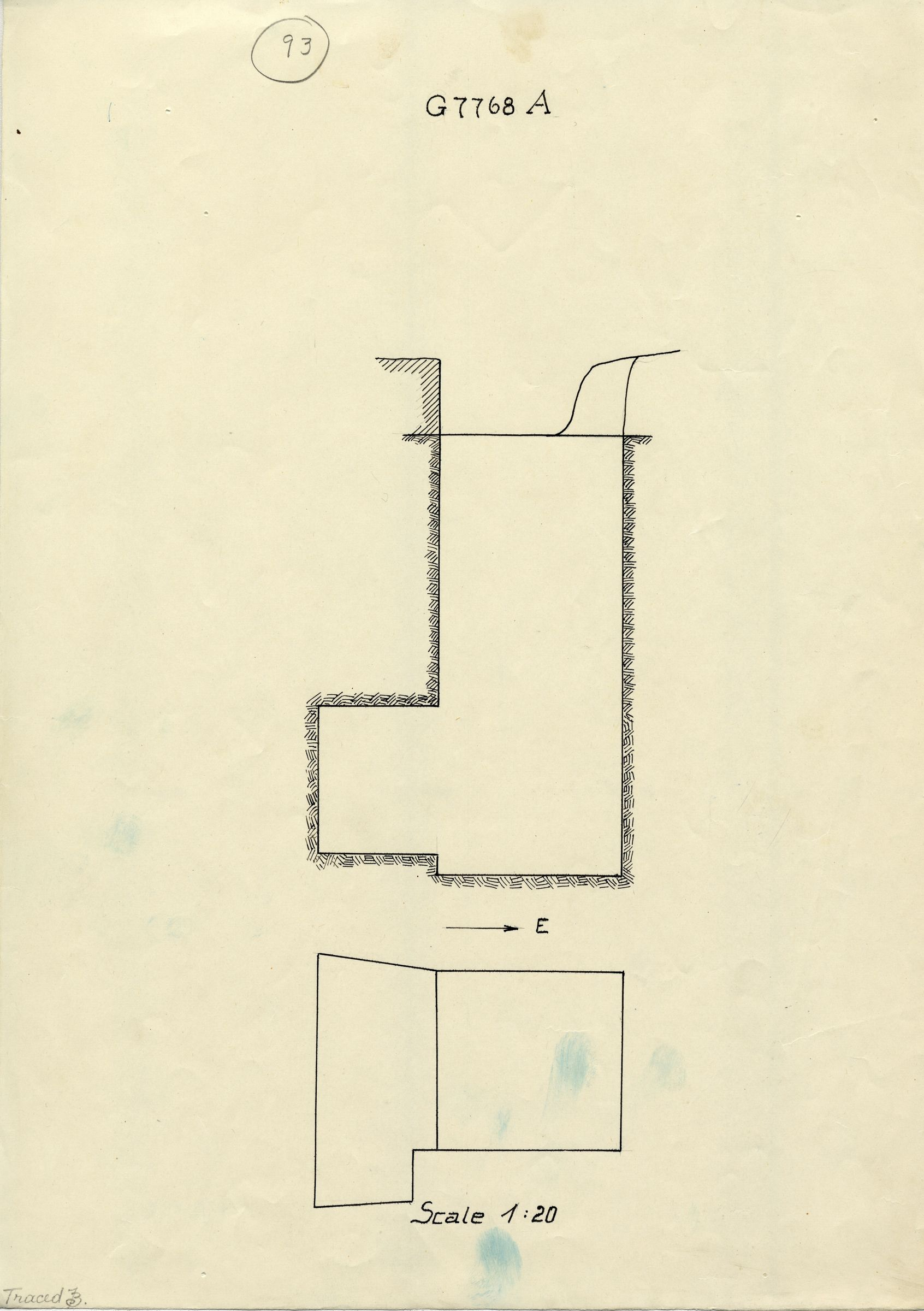 Maps and plans: G 7768, Shaft A