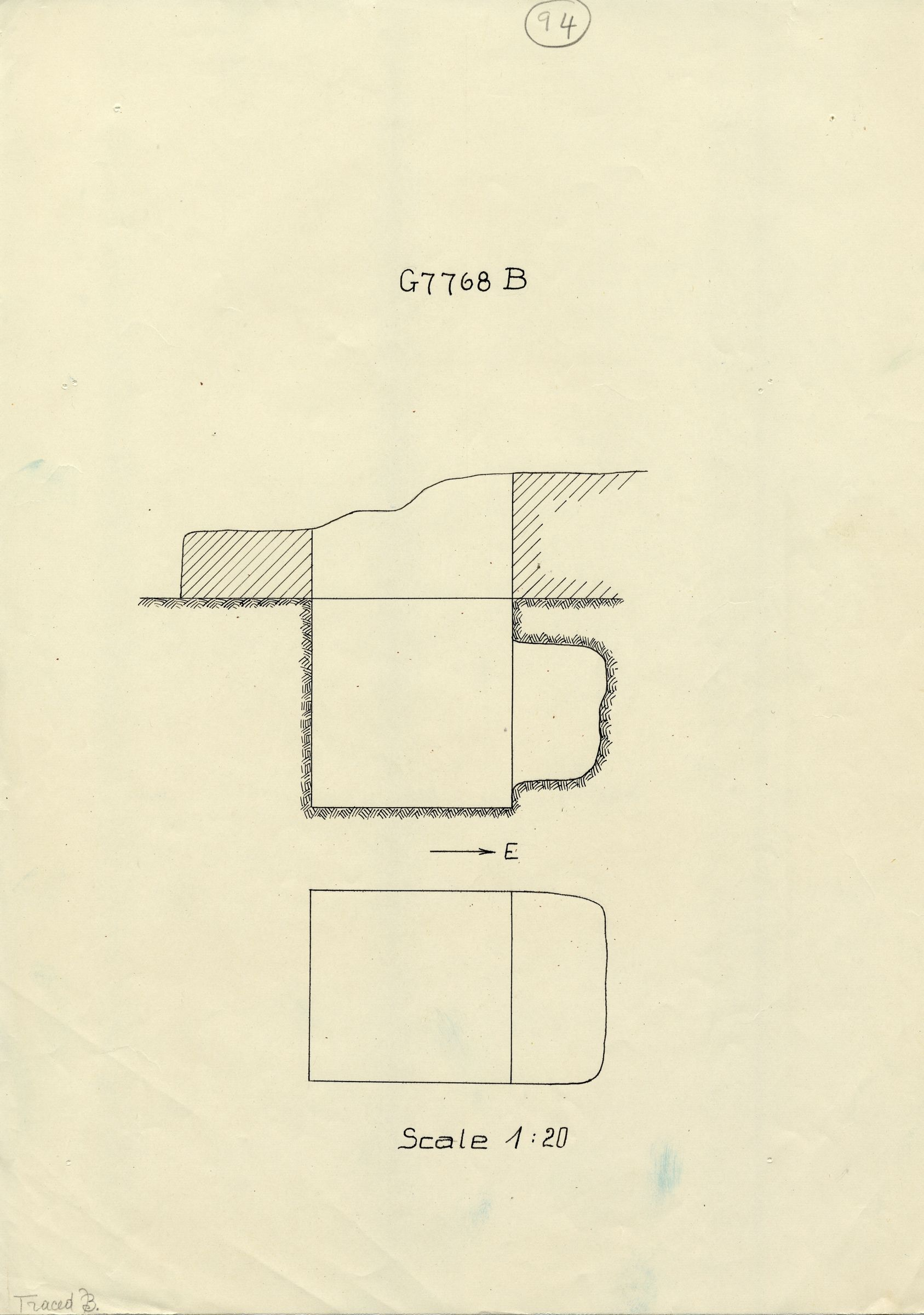 Maps and plans: G 7768, Shaft B
