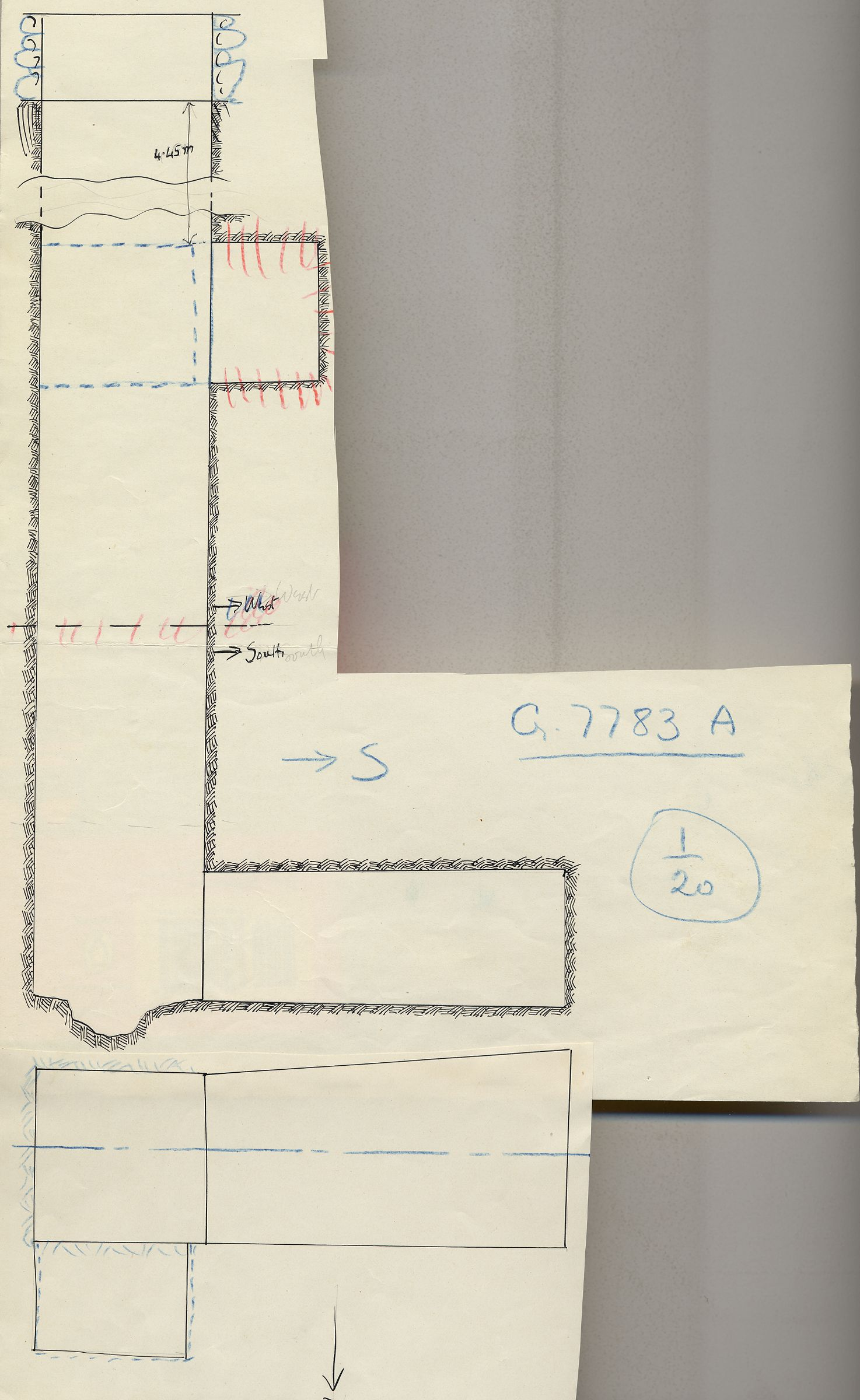 Maps and plans: G 7783, Shaft A