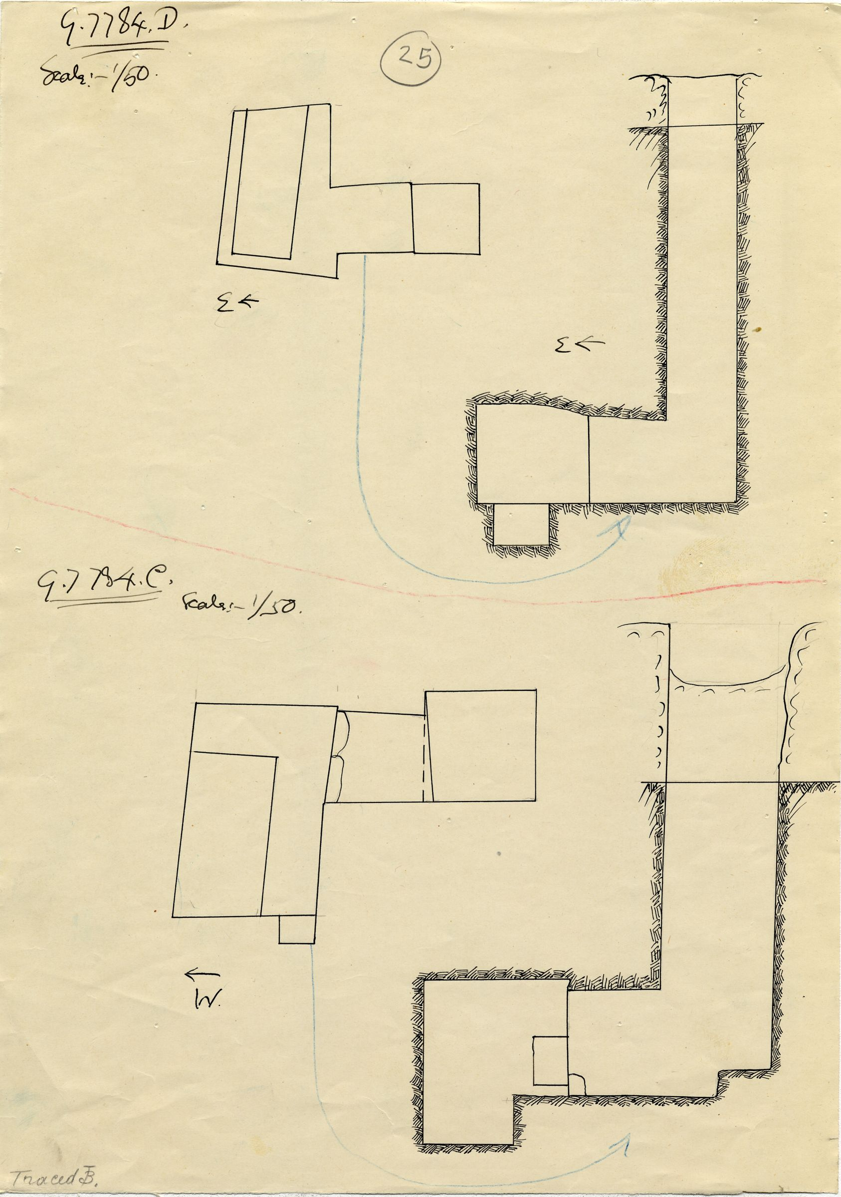 Maps and plans: G 7784, Shaft C and D