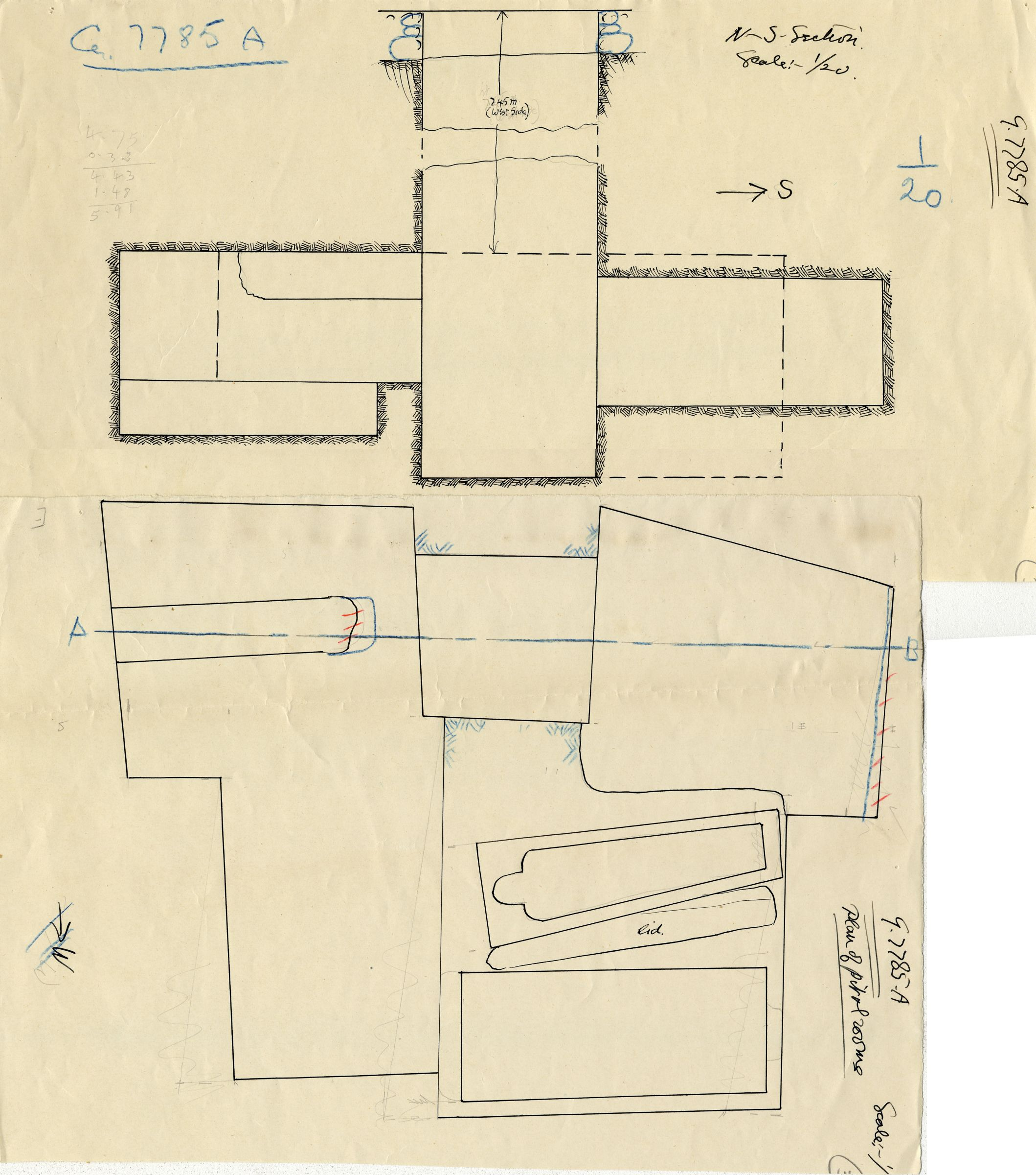 Maps and plans: G 7785, Shaft A