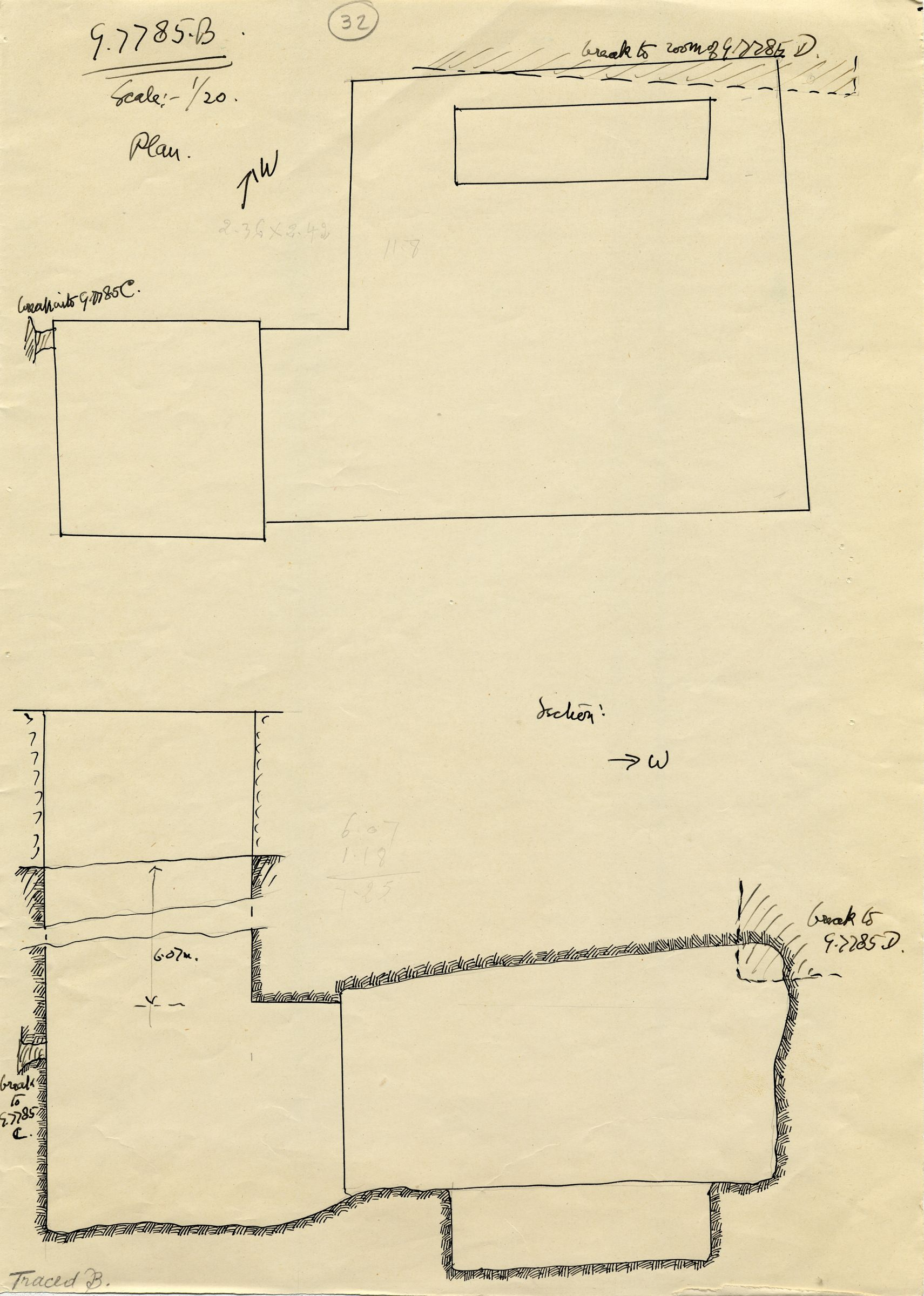 Maps and plans: G 7785, Shaft B