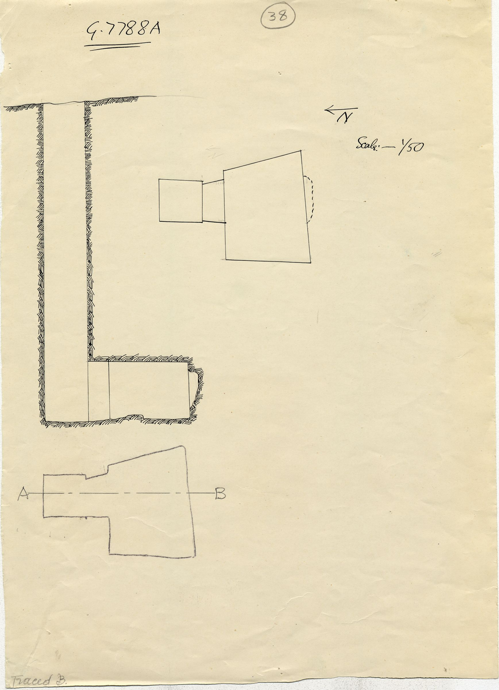 Maps and plans: G 7788, Shaft A