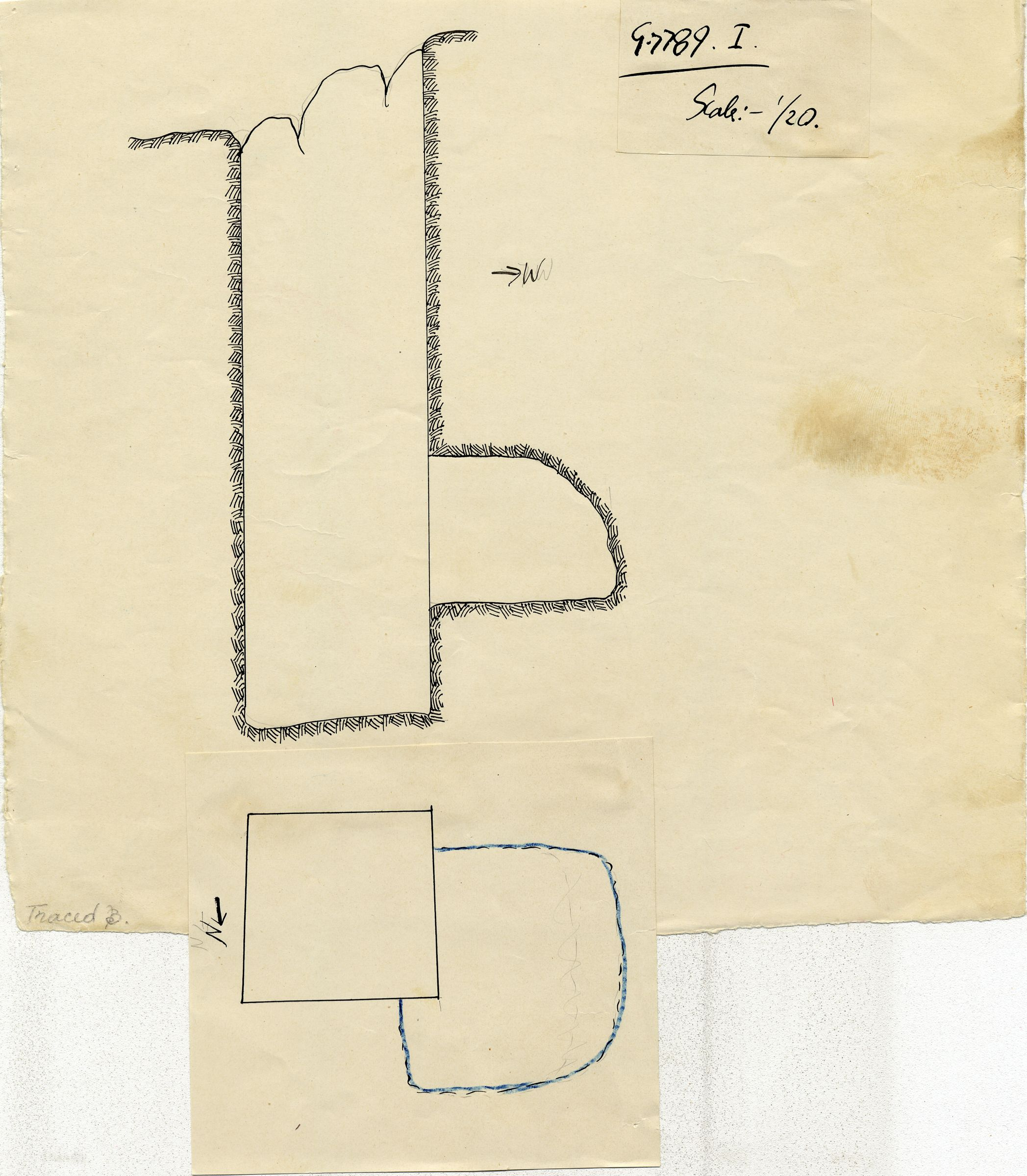 Maps and plans: G 7789, Shaft I