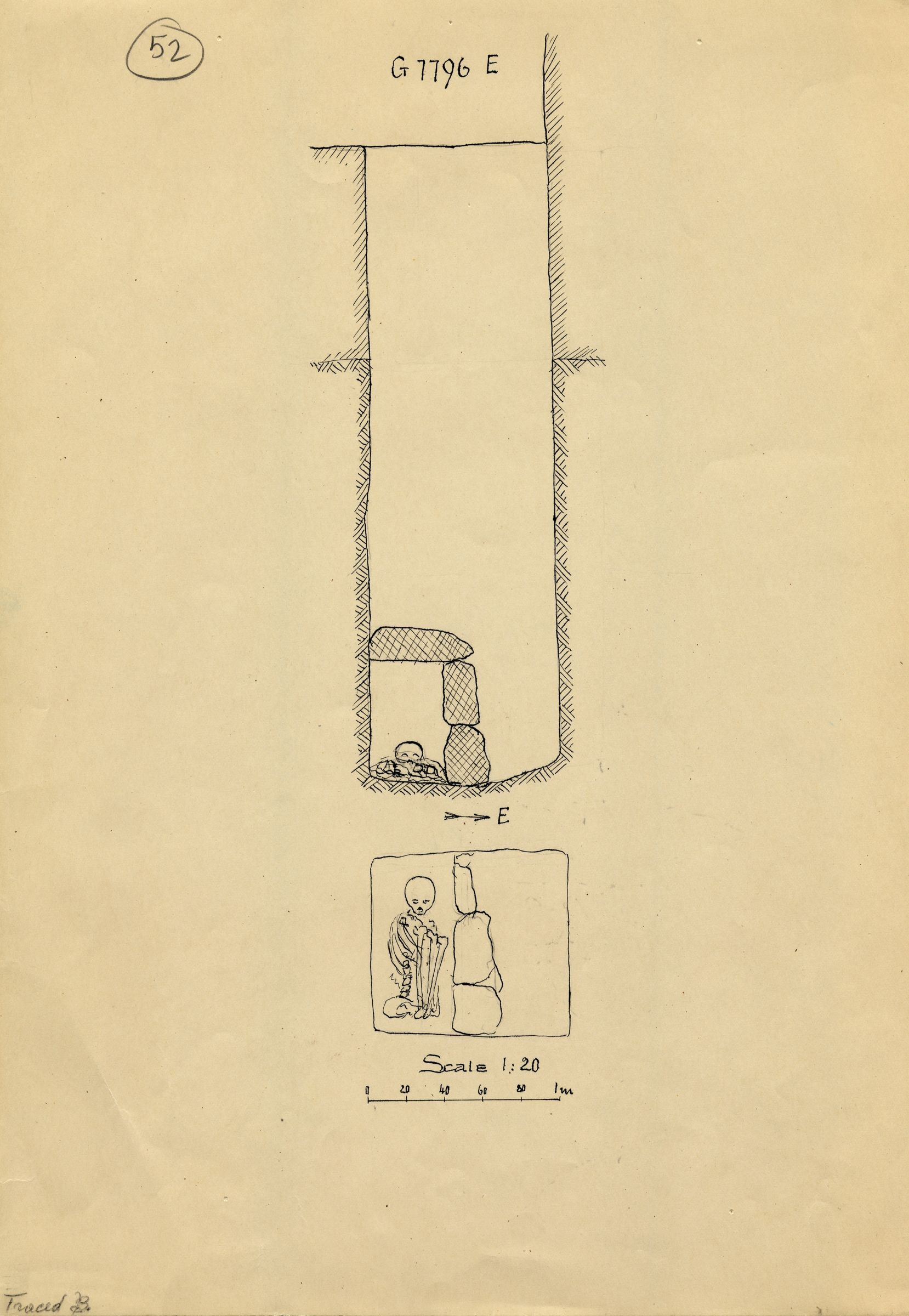 Maps and plans: G 7796, Shaft E