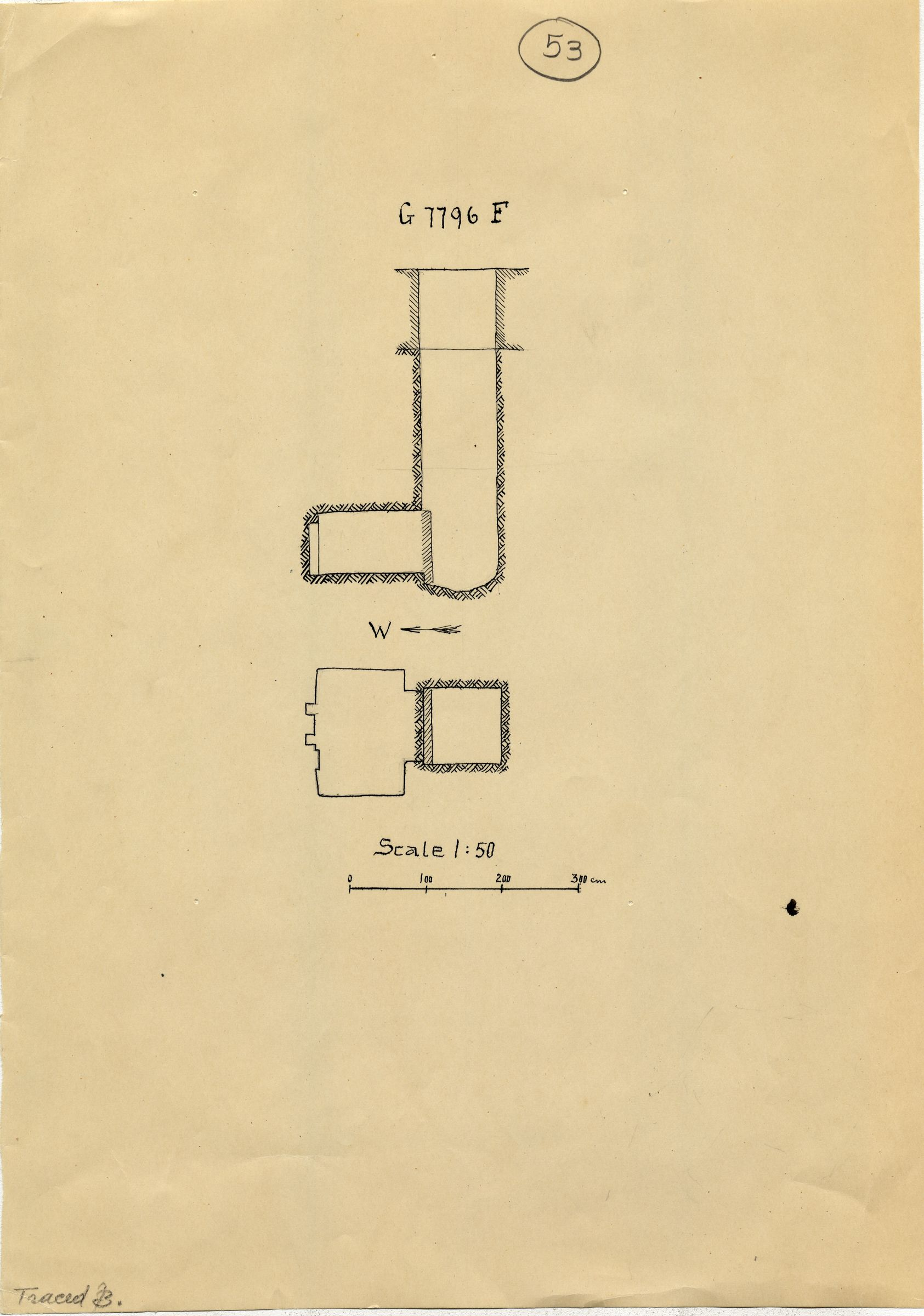 Maps and plans: G 7796, Shaft F