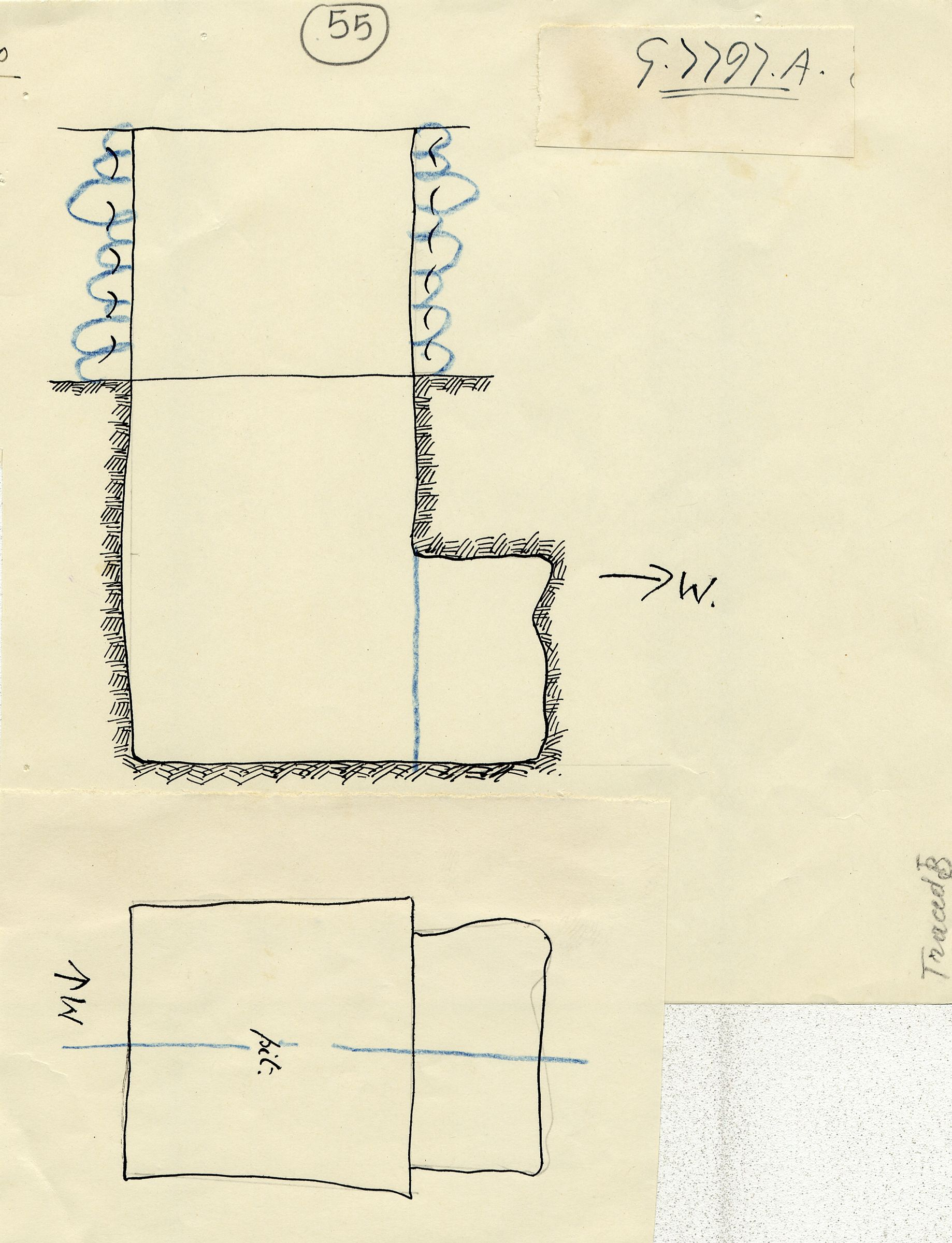 Maps and plans: G 7797a, Shaft A