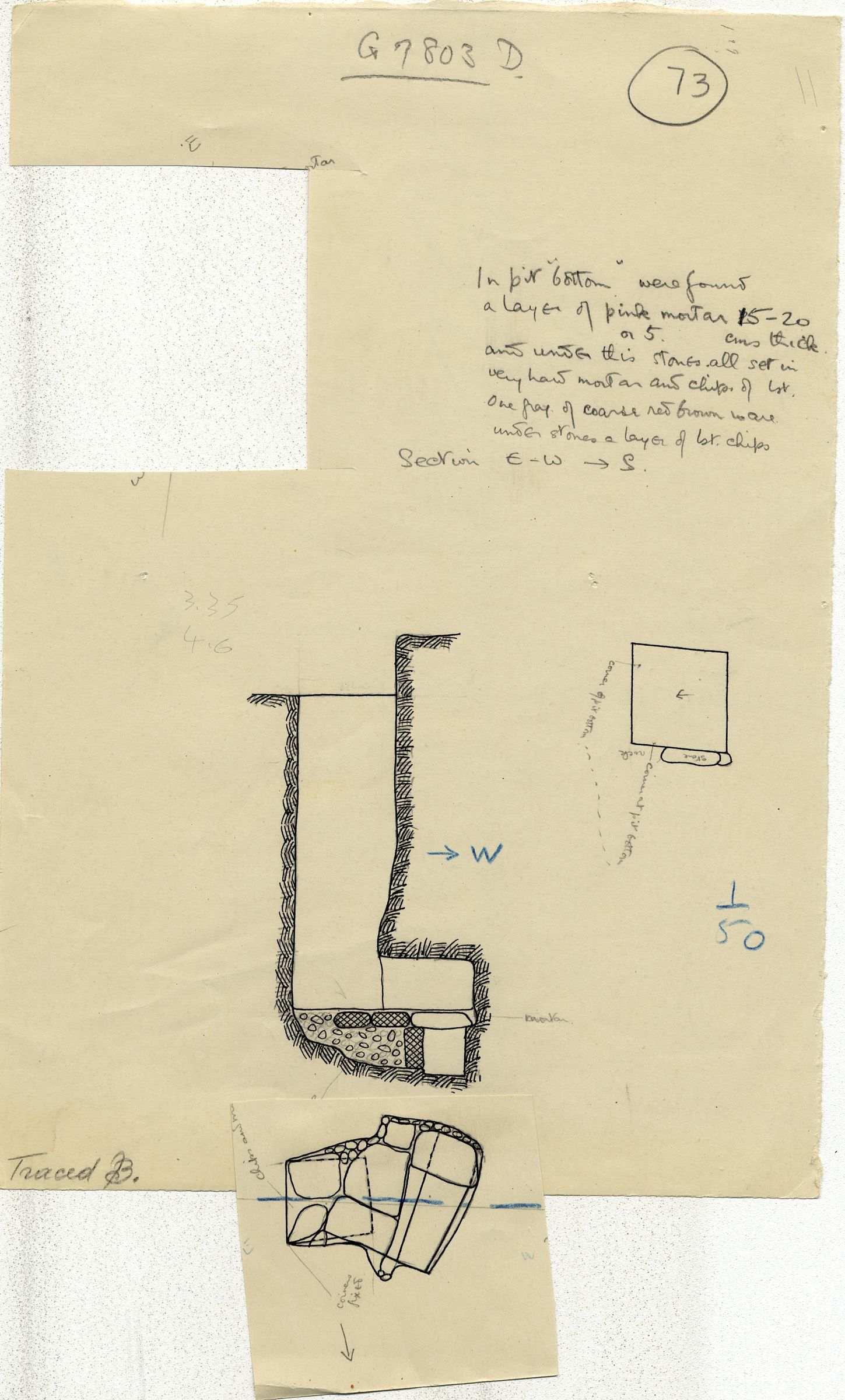 Maps and plans: G 7802, Shaft D