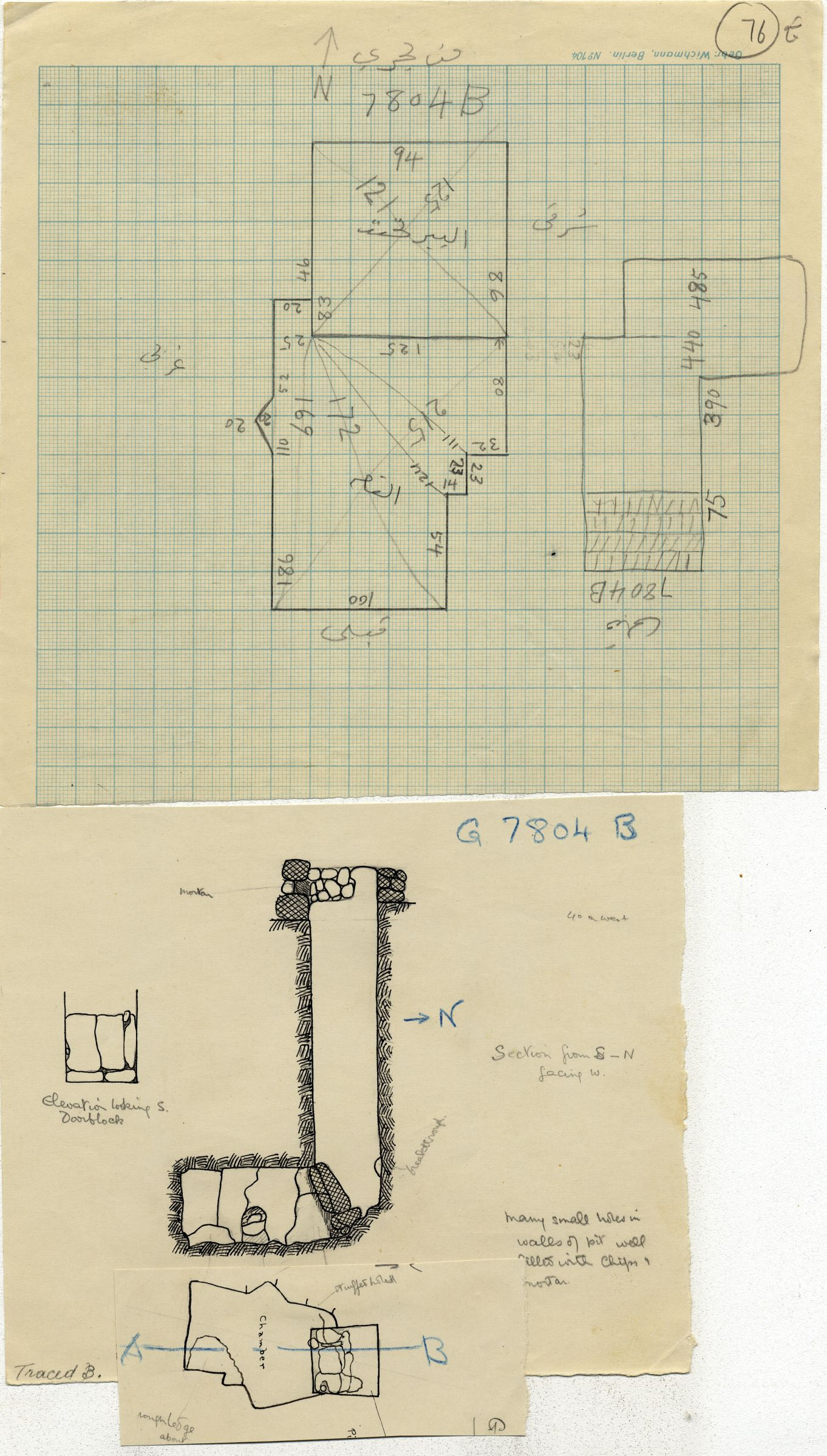 Maps and plans: G 7804, Shaft B