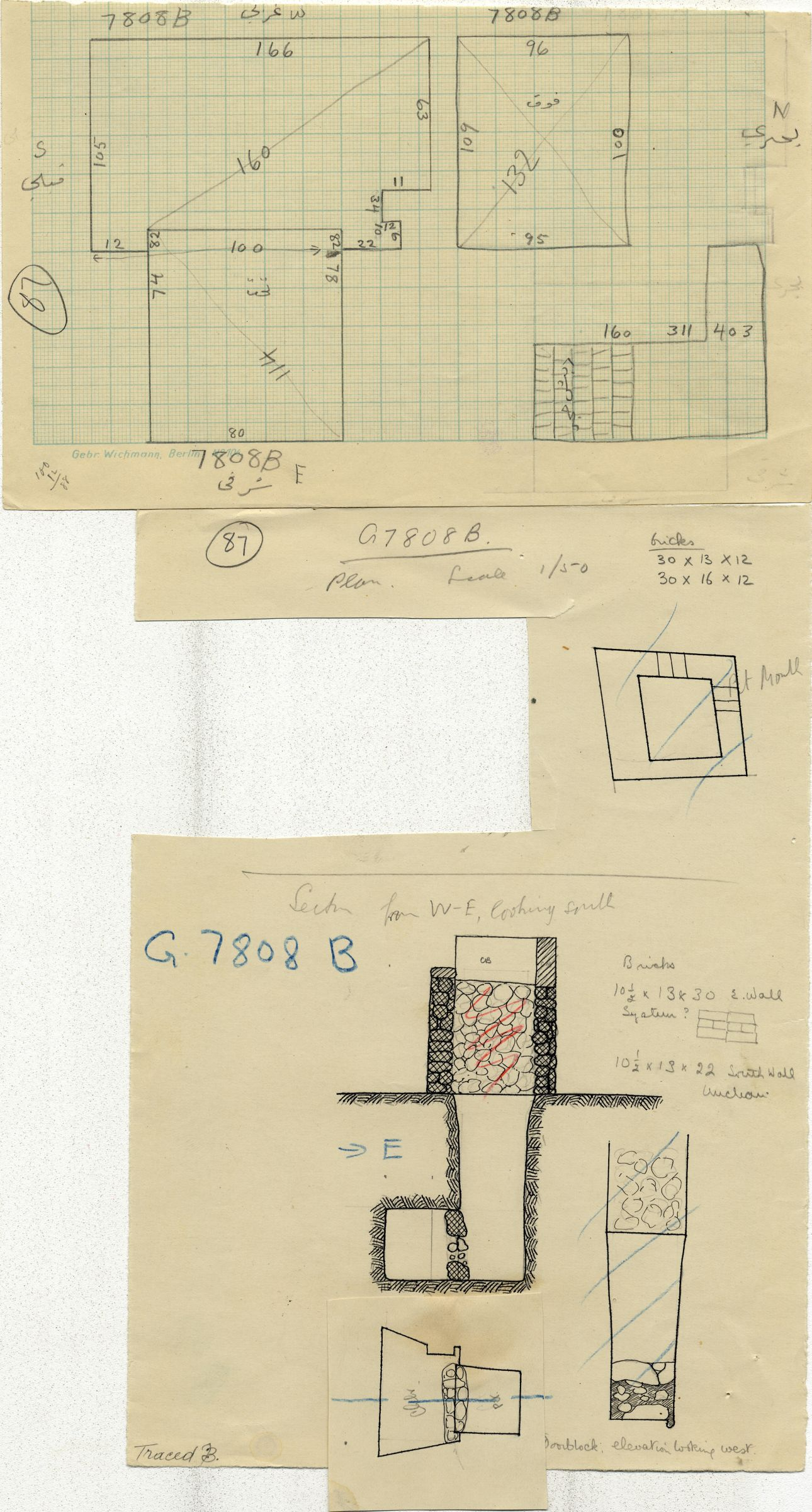 Maps and plans: G 7808, Shaft B
