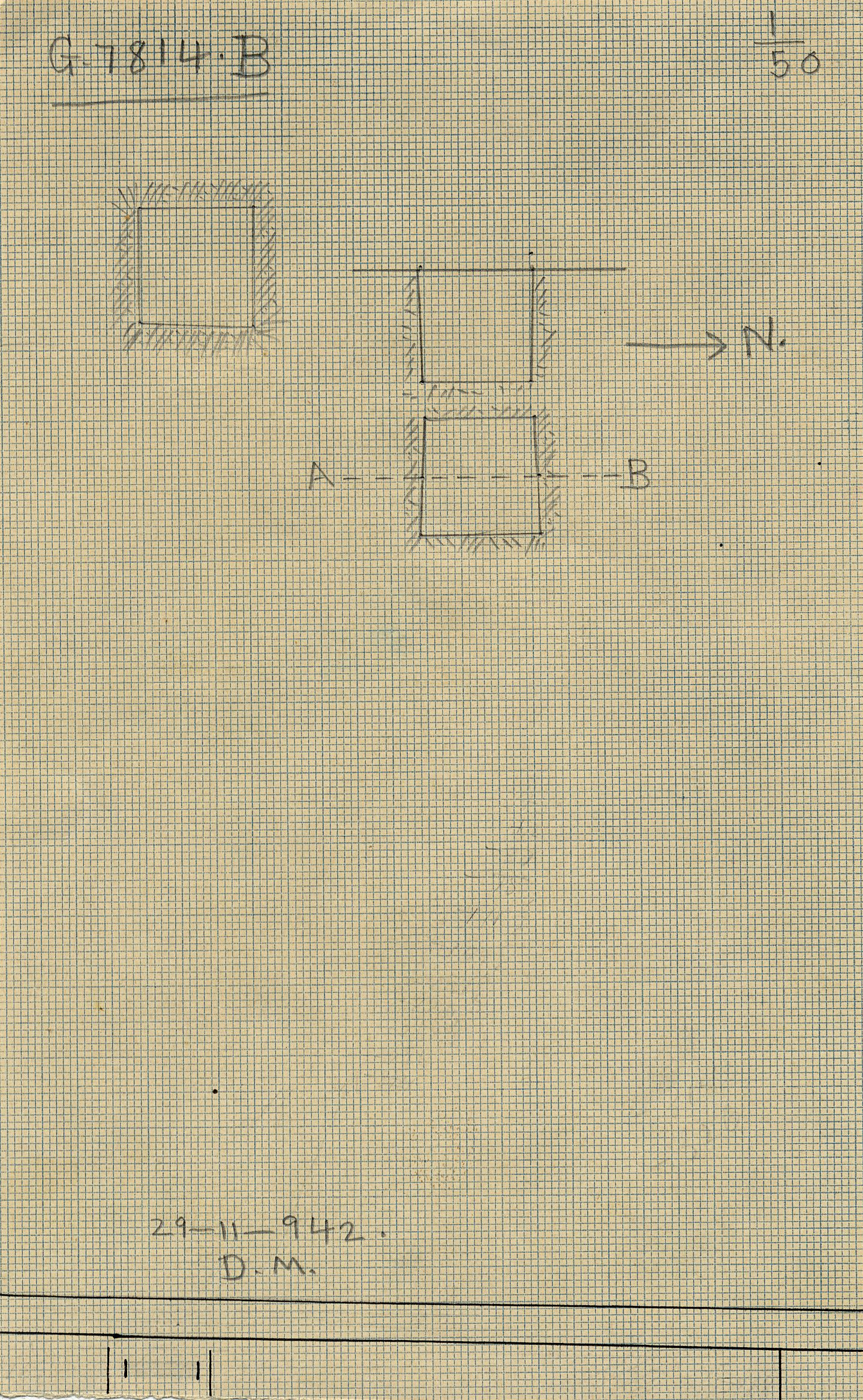 Maps and plans: G 7814, Shaft B