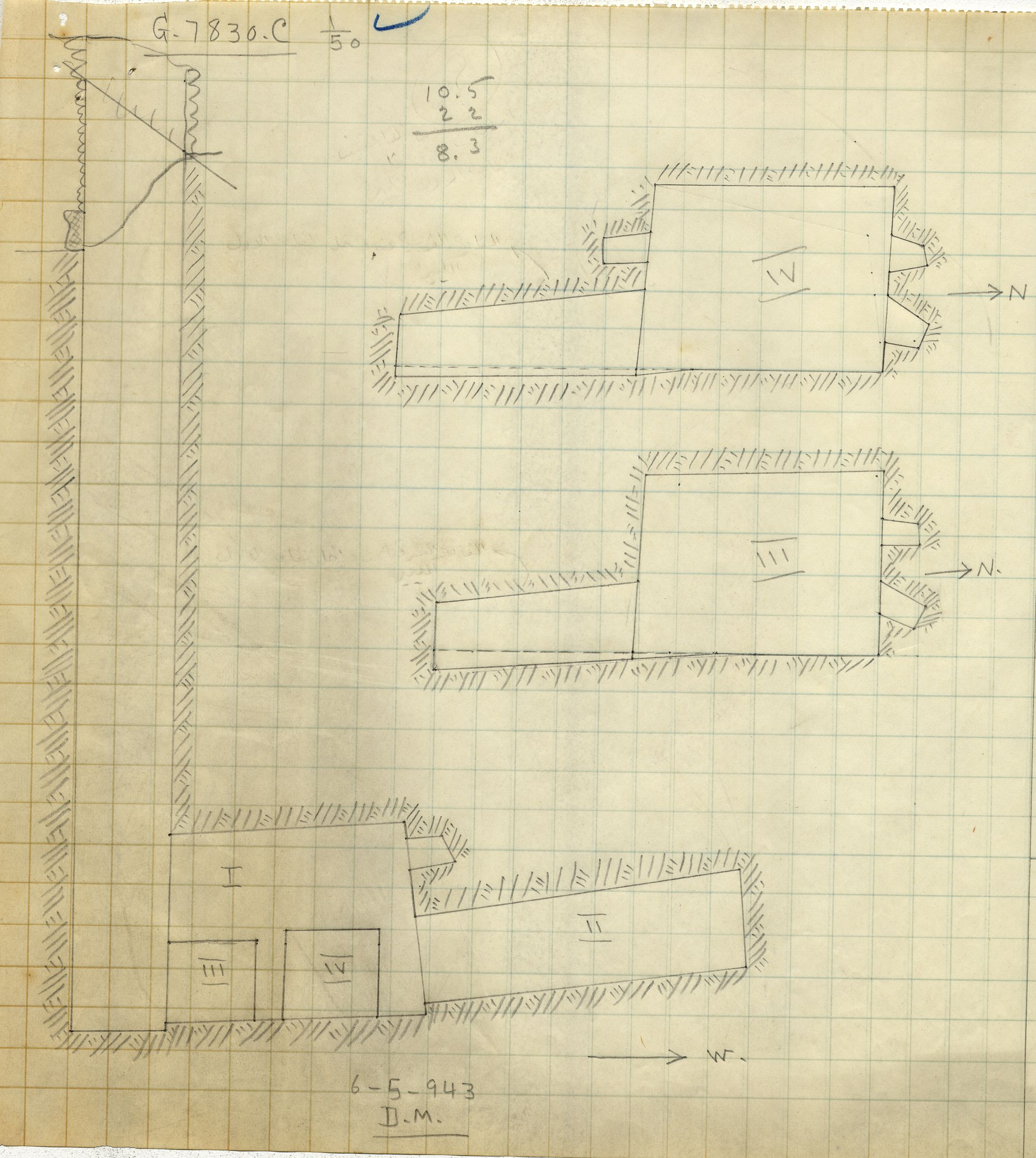 Maps and plans: G 7830, Shaft C