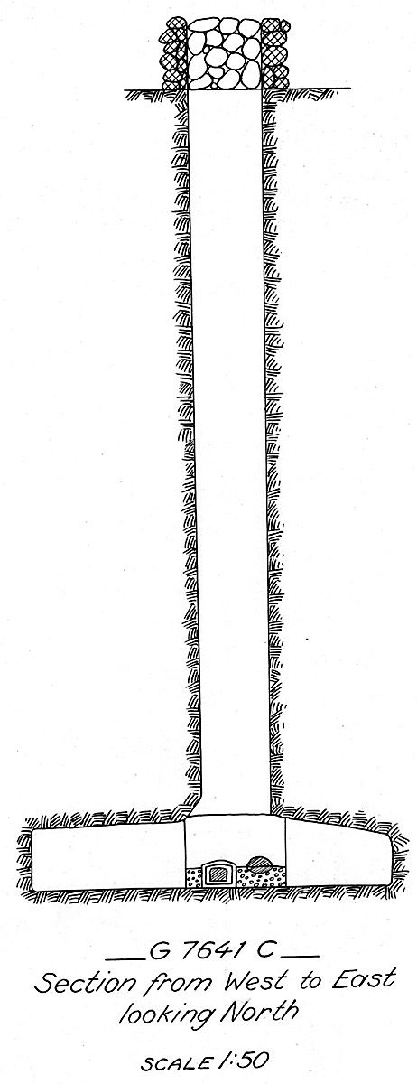 Maps and plans: G 7641, Shaft C