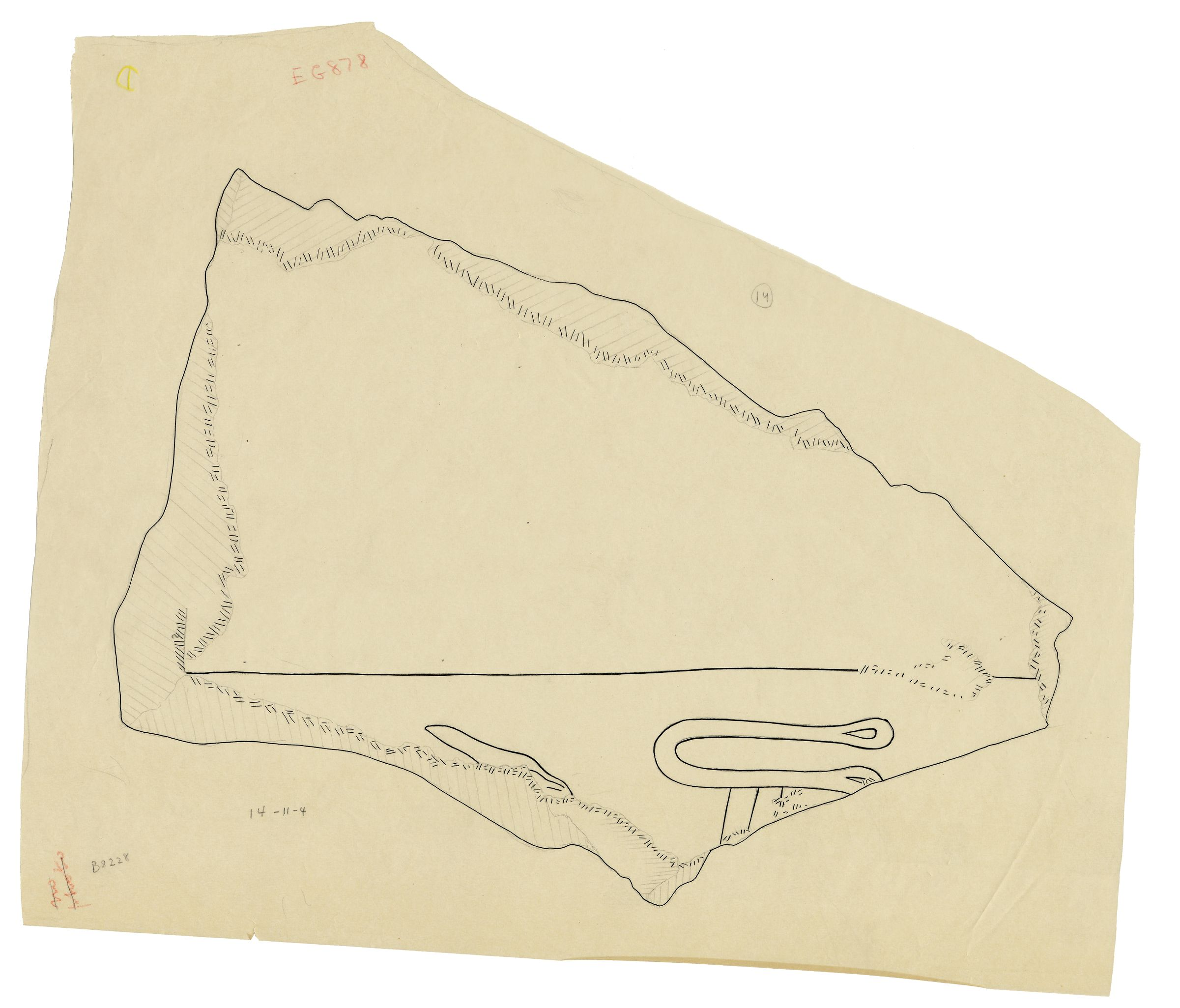 Drawings: G 5110: relief fragment 14