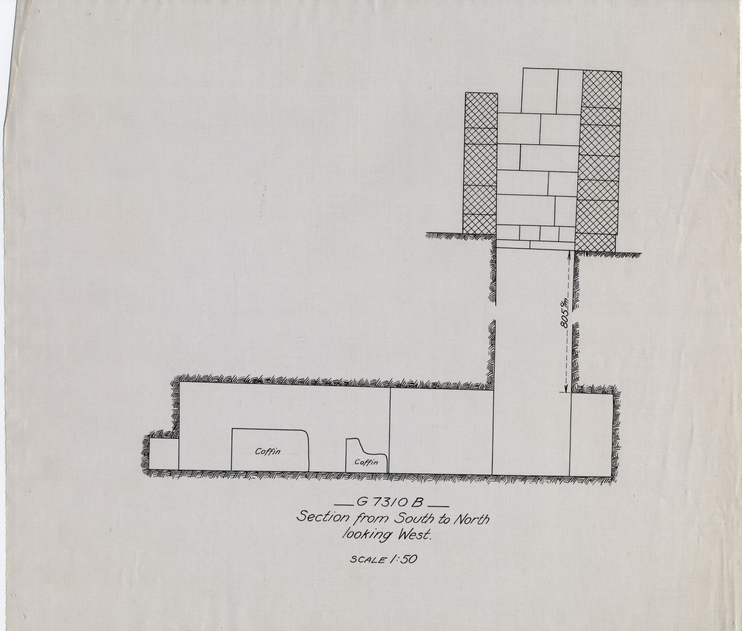 Maps and plans: G 7310, Shaft B