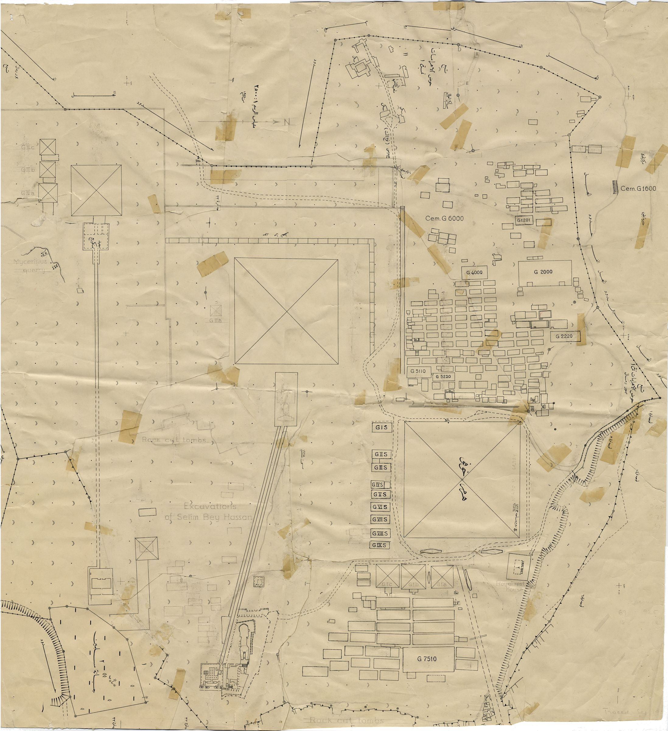 Maps and plans: Plan of the Giza Necropolis