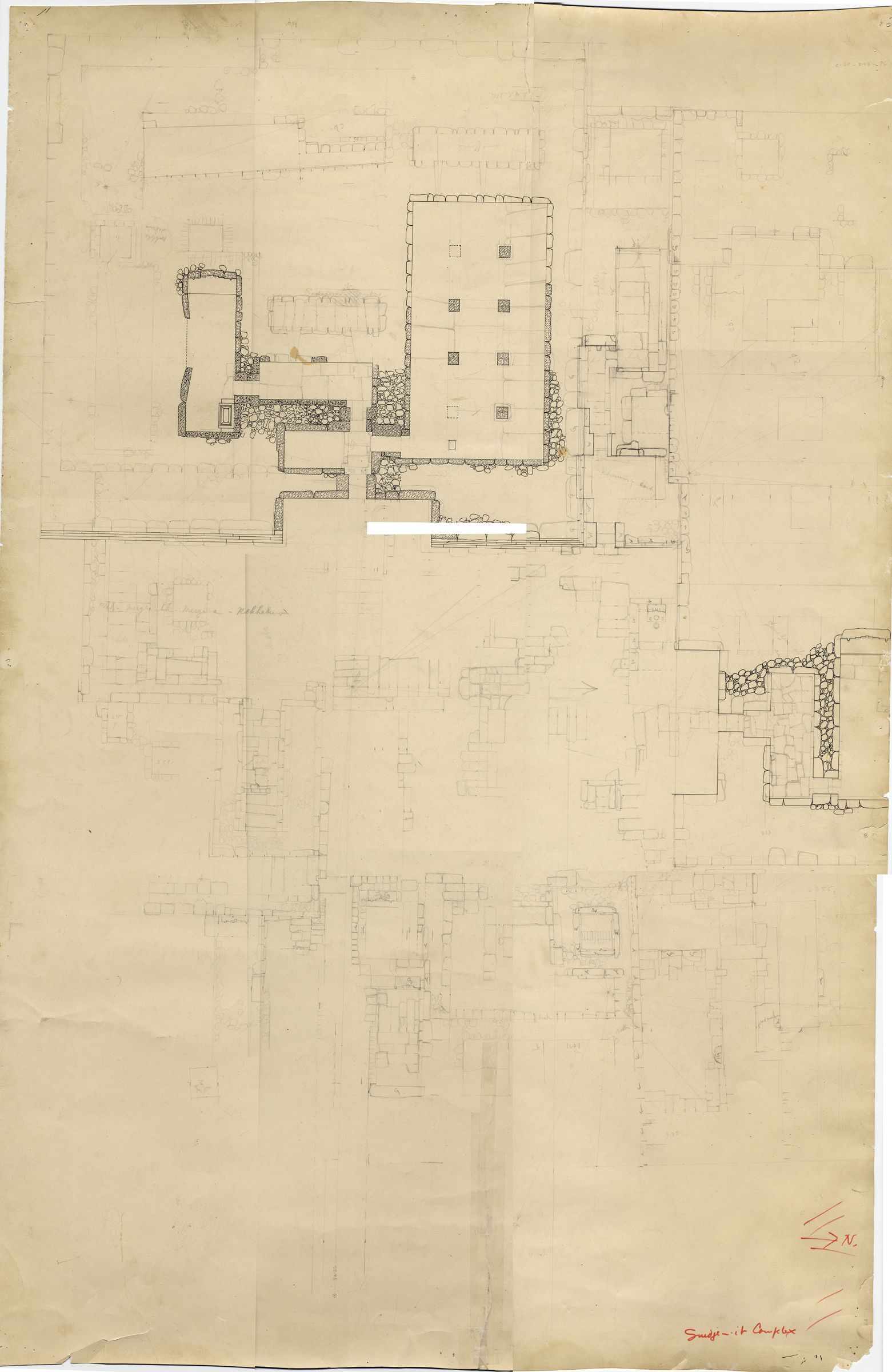Maps and plans: Plan of Senedjemib Complex