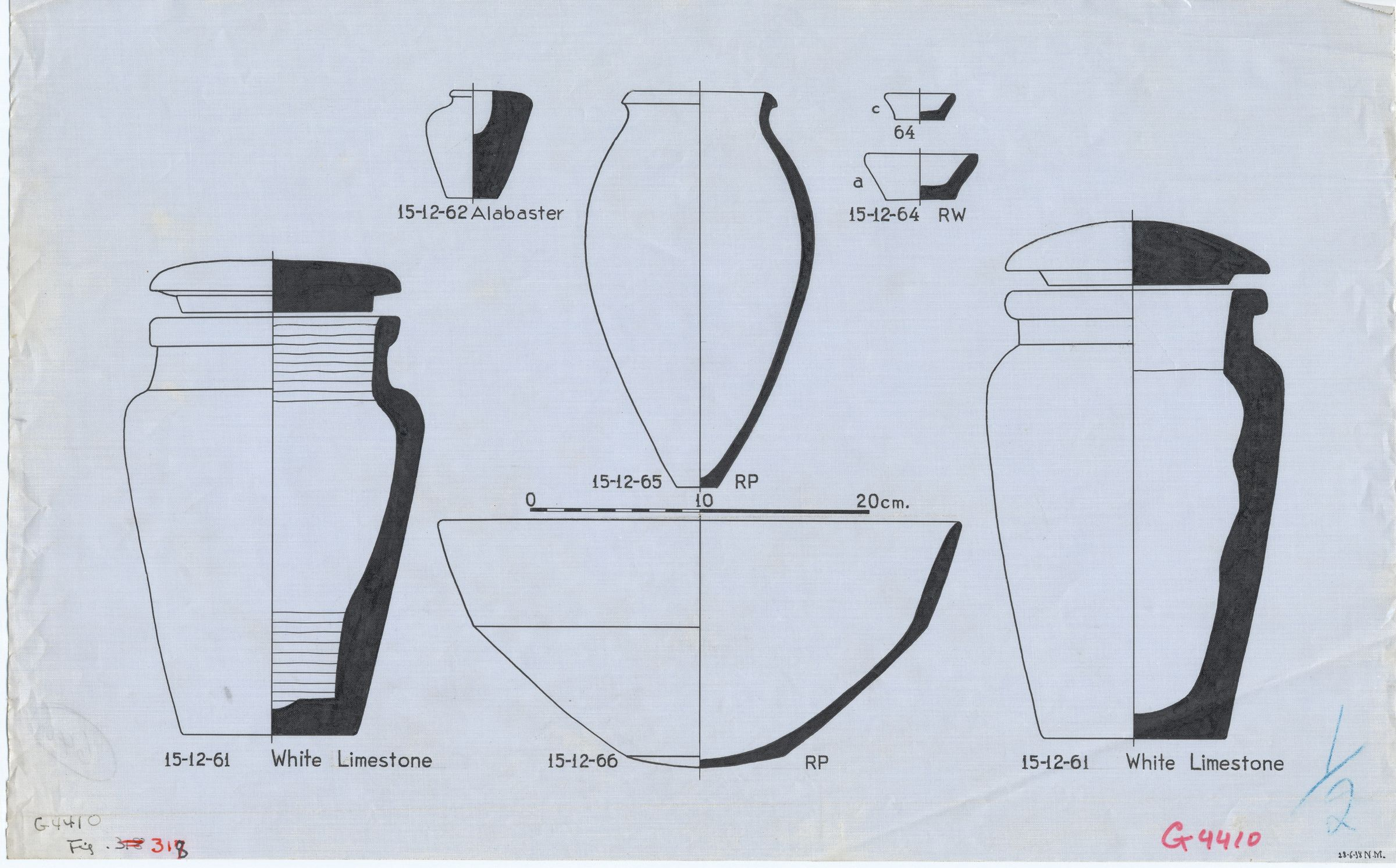 Drawings: G 4410, Shaft A: objects