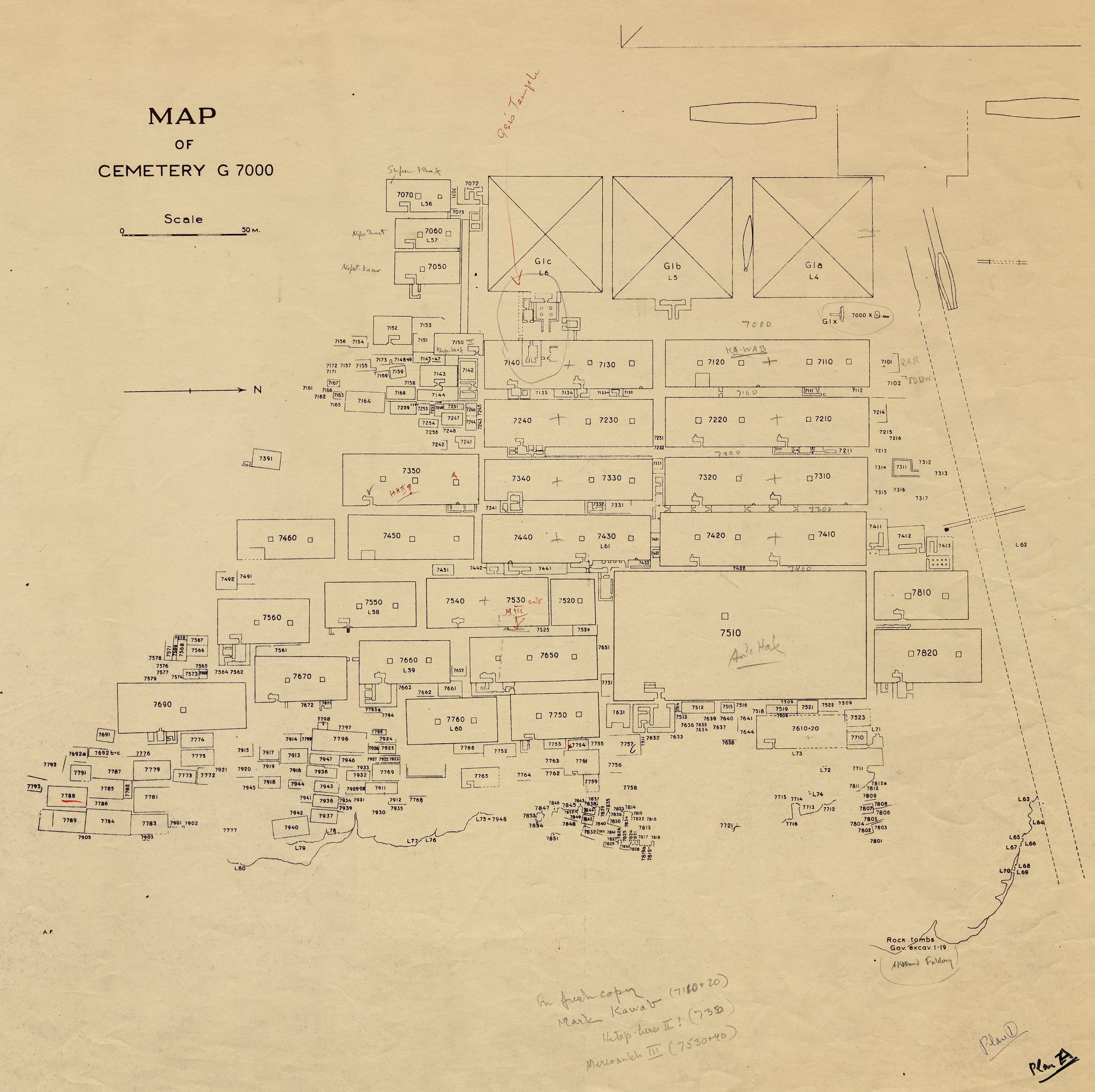 Maps and plans: Plan of Cemetery G 7000