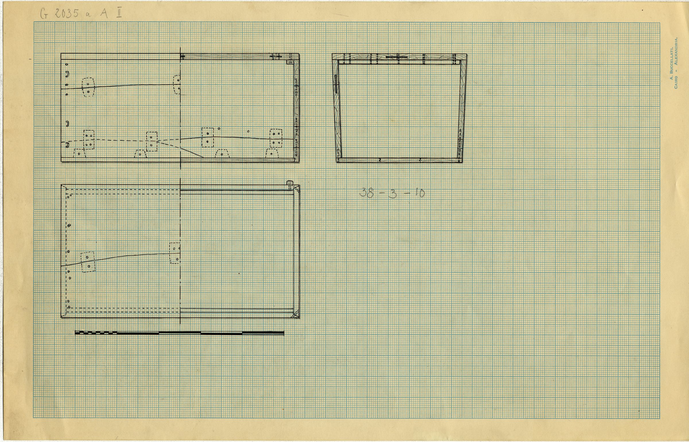 Drawings: G 2035a, Shaft A: coffin, wood
