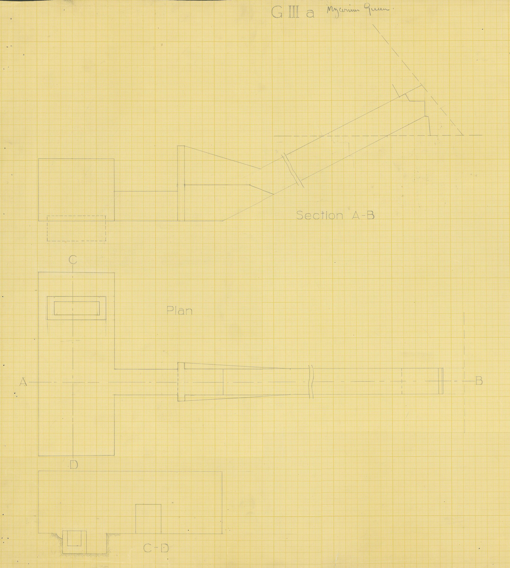 Drawings: G III-c, Plan and sections of chamber