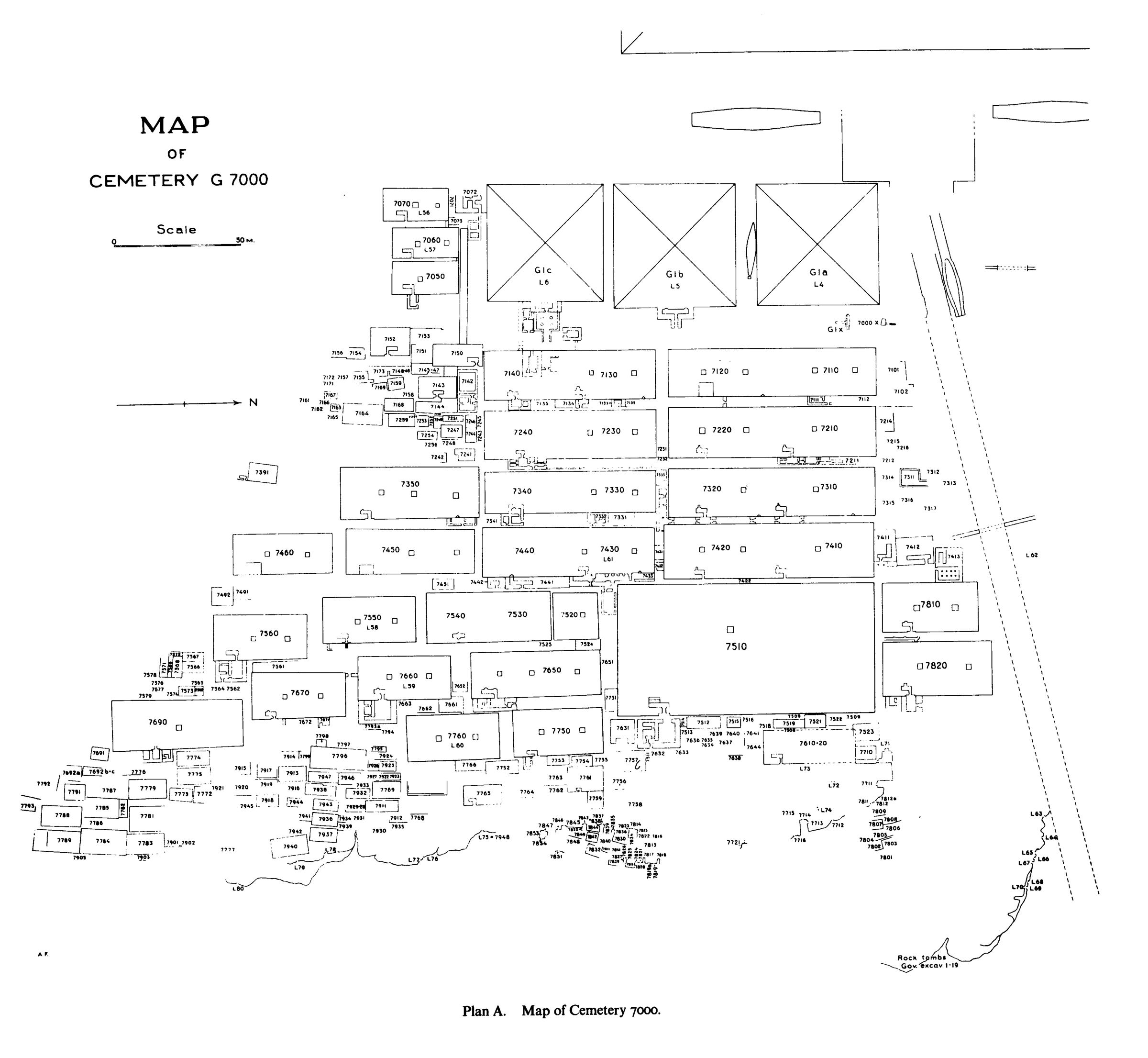 Maps and plans: Overall plan of Cemetery G 7000