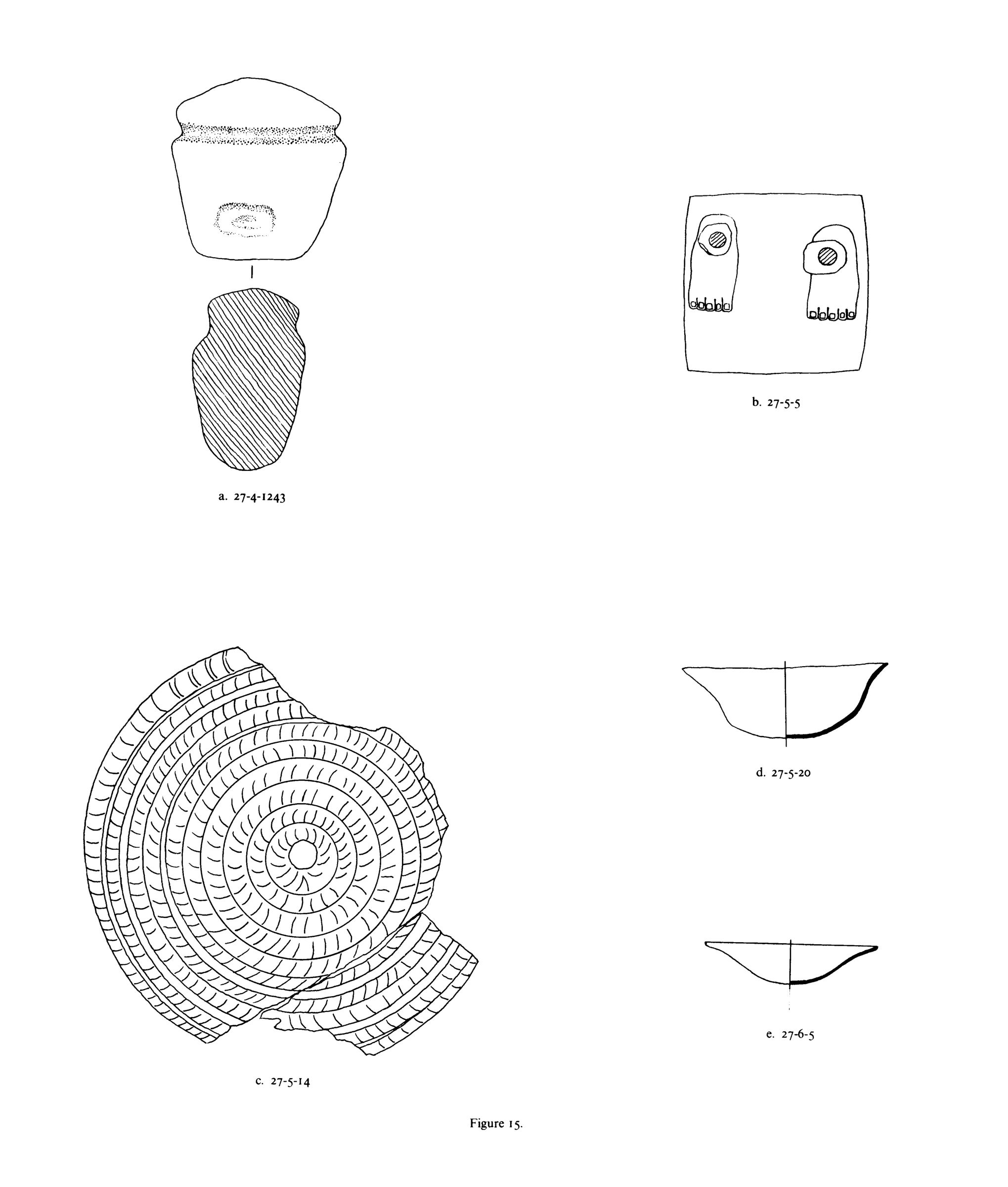 Drawings: G 7530-7540: objects